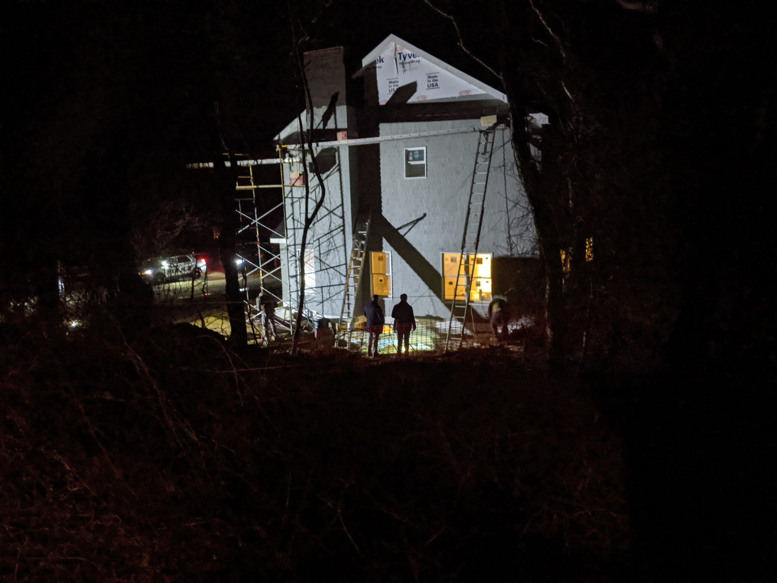 OSHA officials Investigate a house under construction in Montauk after a fatal accident on Friday.