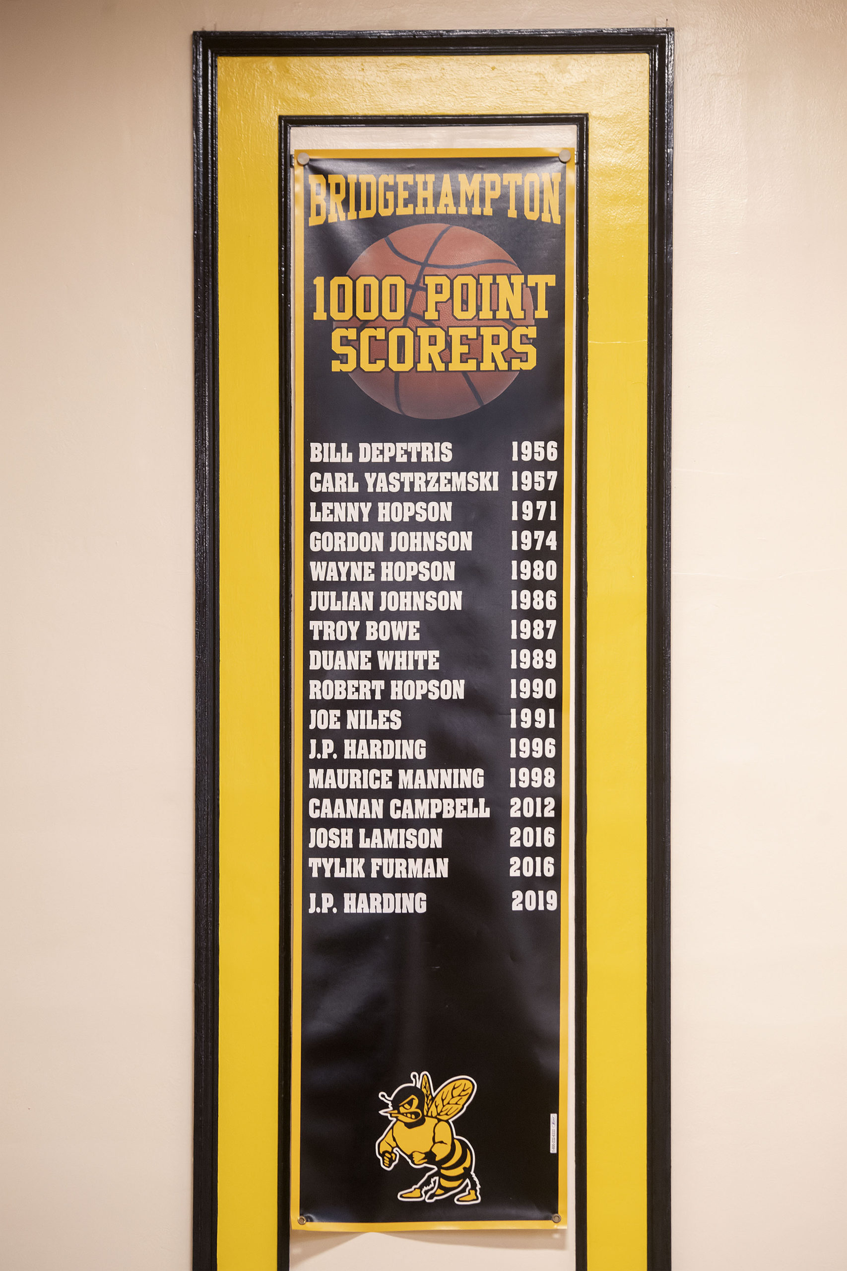 The 1,000-point scorers in Bridgehampton history.