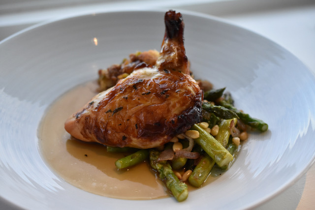 A chicken dish from View Restaurant in Oakdale.