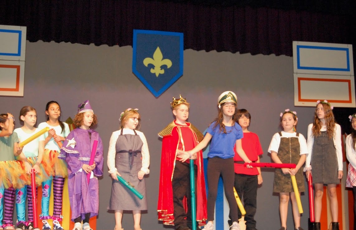 "Westhampton Beach fifth graders performed ""Joust"" for their school's annual musical production."