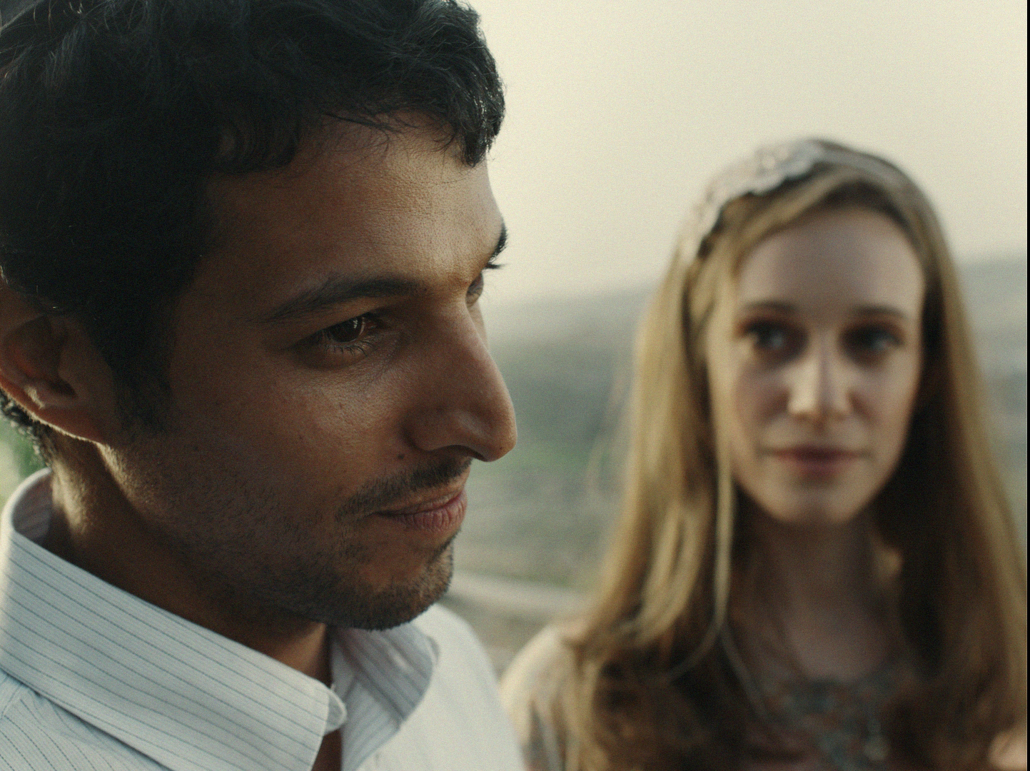 Yehuda Nahari Halev as Yagil Amir and Daniella Kertesz as his girlfriend, Nava, in a scene from Yaron Zilberman's film