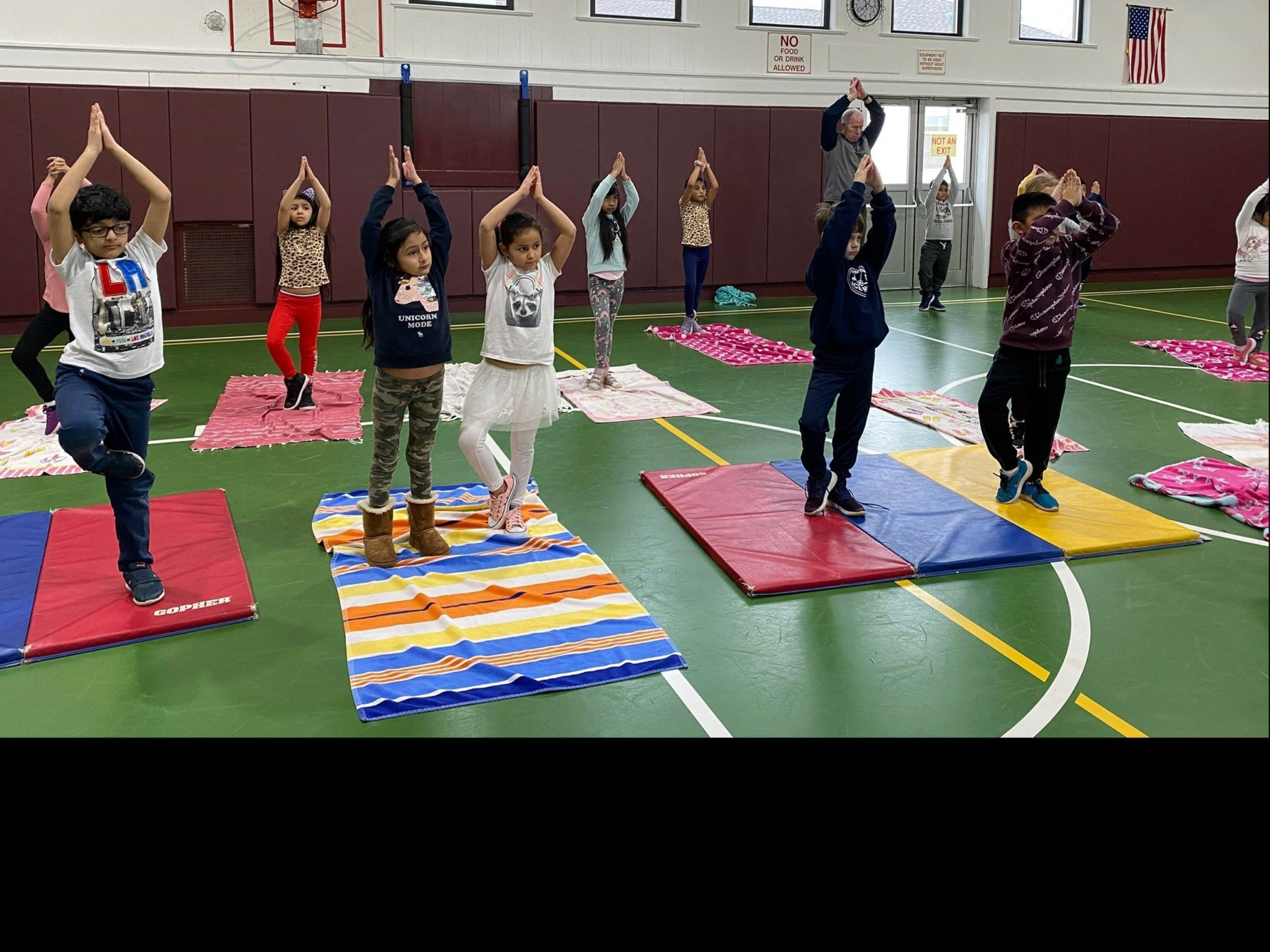 The Tuckahoe Educational Foundation and the Tuckahoe PTO funded four days of yoga for all students at Tuckahoe School. Under the guidance of Angela Polchinski and Marcus Lapianna, the students learned how to use their breath to help them relax in difficult situations, and learned balance techniques and stretches.