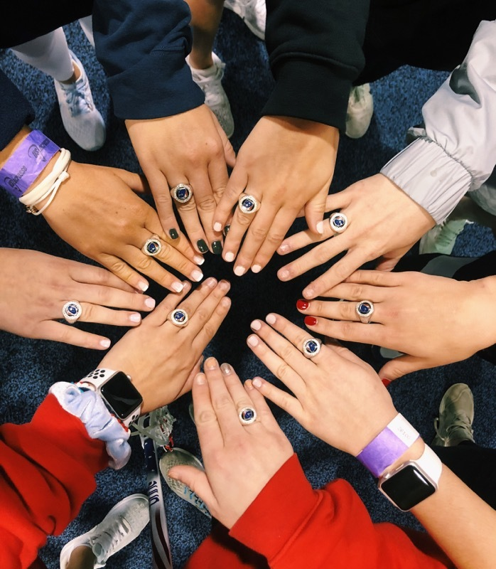 Isabelle Smith, along with her U.S. U19 lacrosse teammates, received their championship rings at a ring ceremony as part of the U.S. Lacrosse Convention, otherwise known as LaxCon, in Philadelphia on Friday.