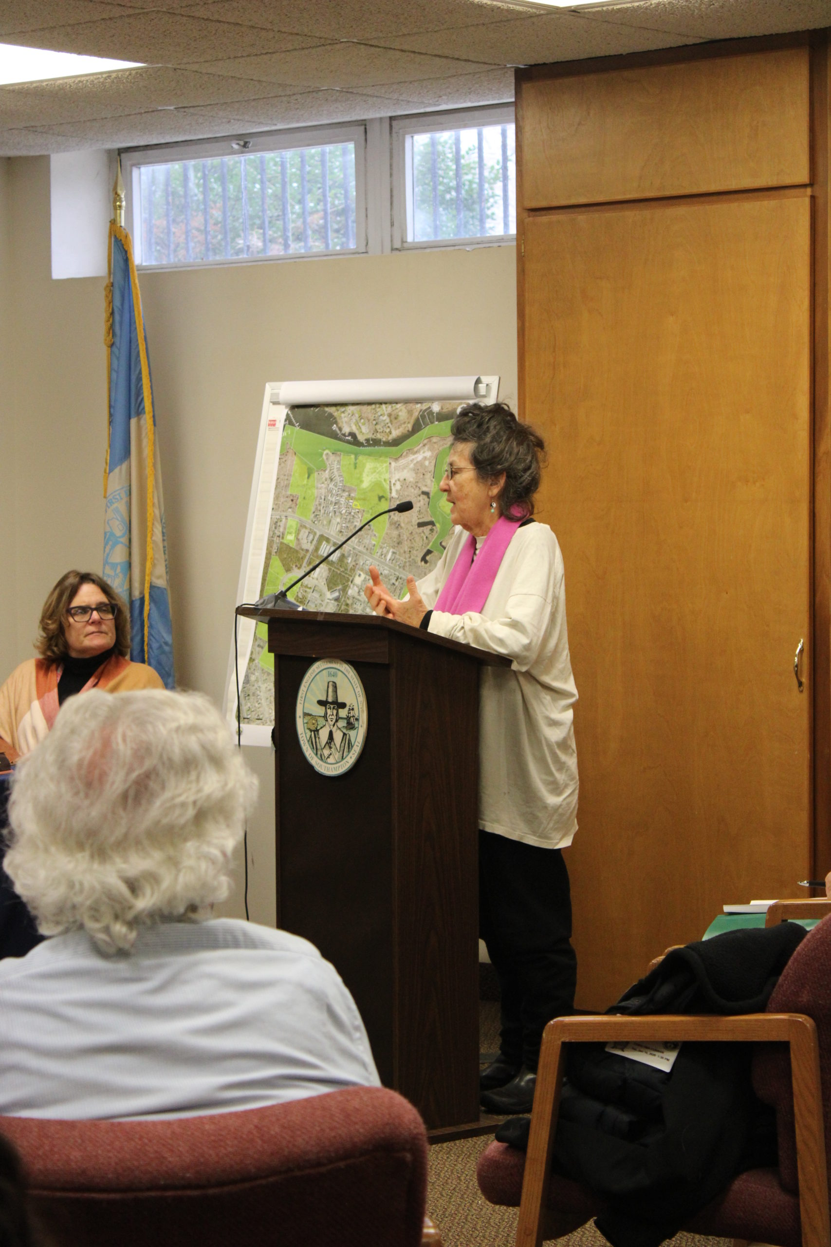 Tina Curran addressed the town board Tuesday afternoon about her feelings concerning the proposed home built on Sugar Loaf.