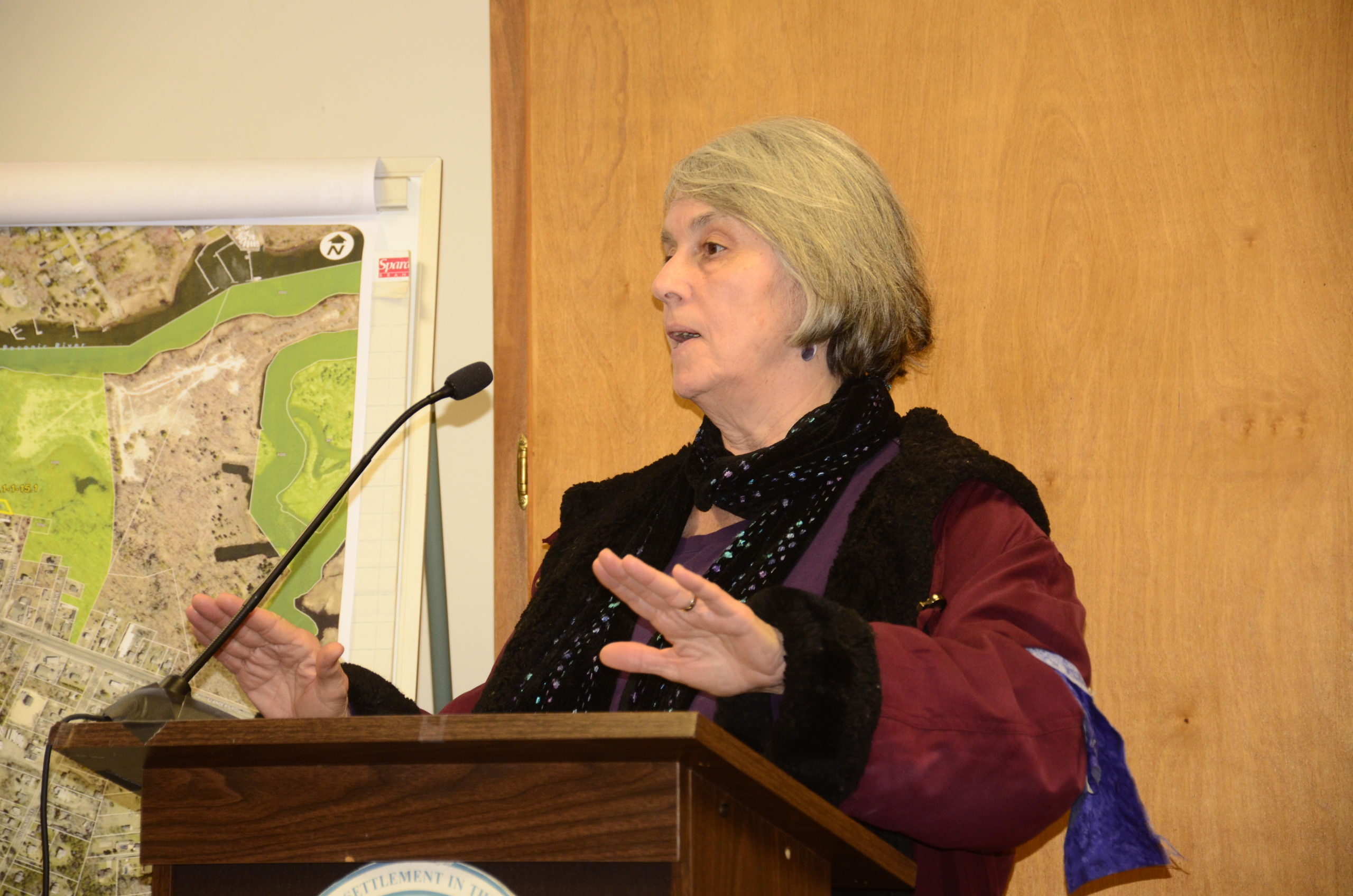Heidi Rain joined the gathering at Sugar Loaf Tuesday morning before speaking about it at the town board meeting Tuesday afternoon.
