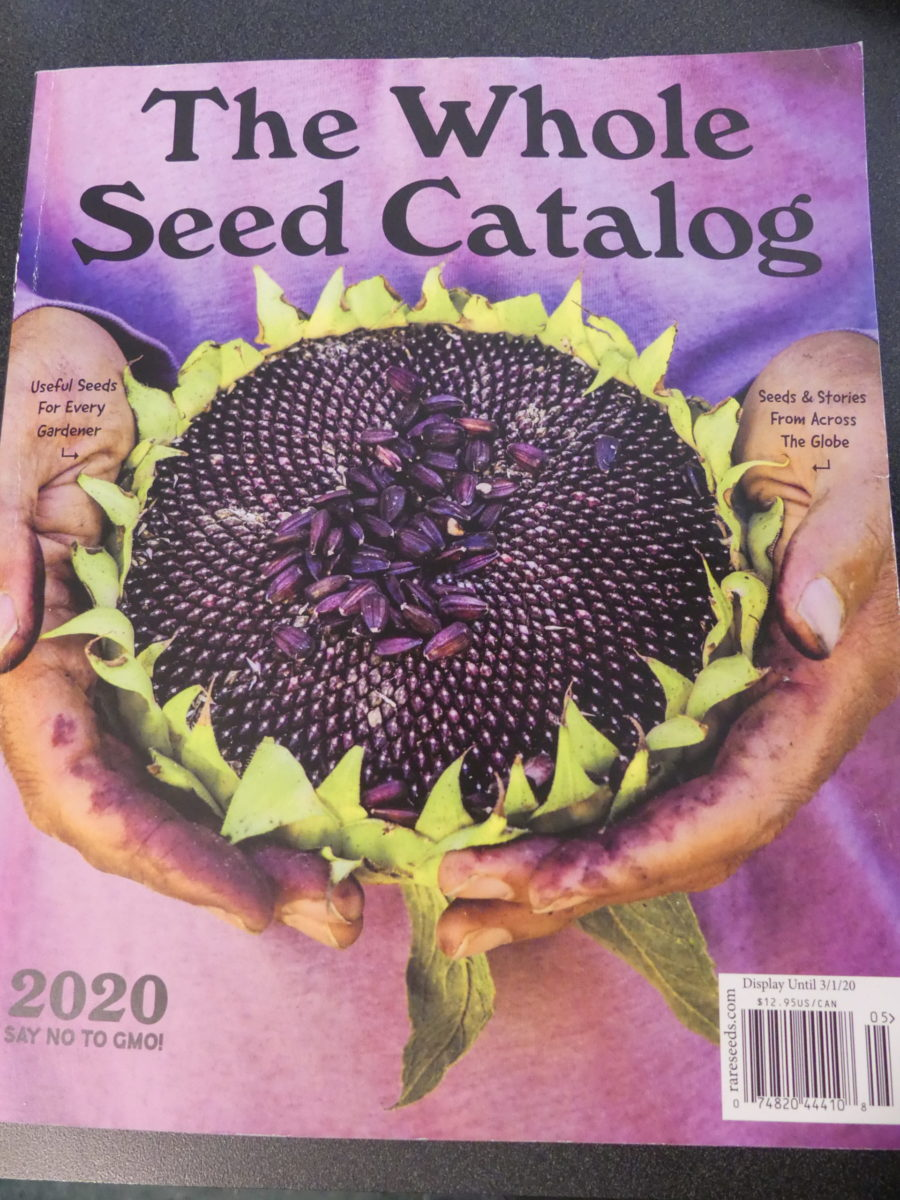 The Whole Seed Catalog from Baker Creek is a throwback to the Whole Earth and Whole Garden catalogs of the 1970s. It's an incredible catalog that is worth much more than the $12 that it costs. What a gem. ANDREW MESSINGER
