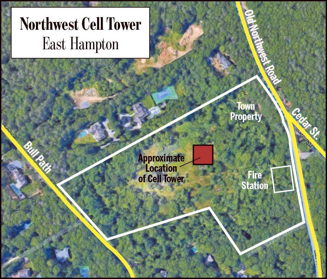 The approximate location of the Northwest cell tower.