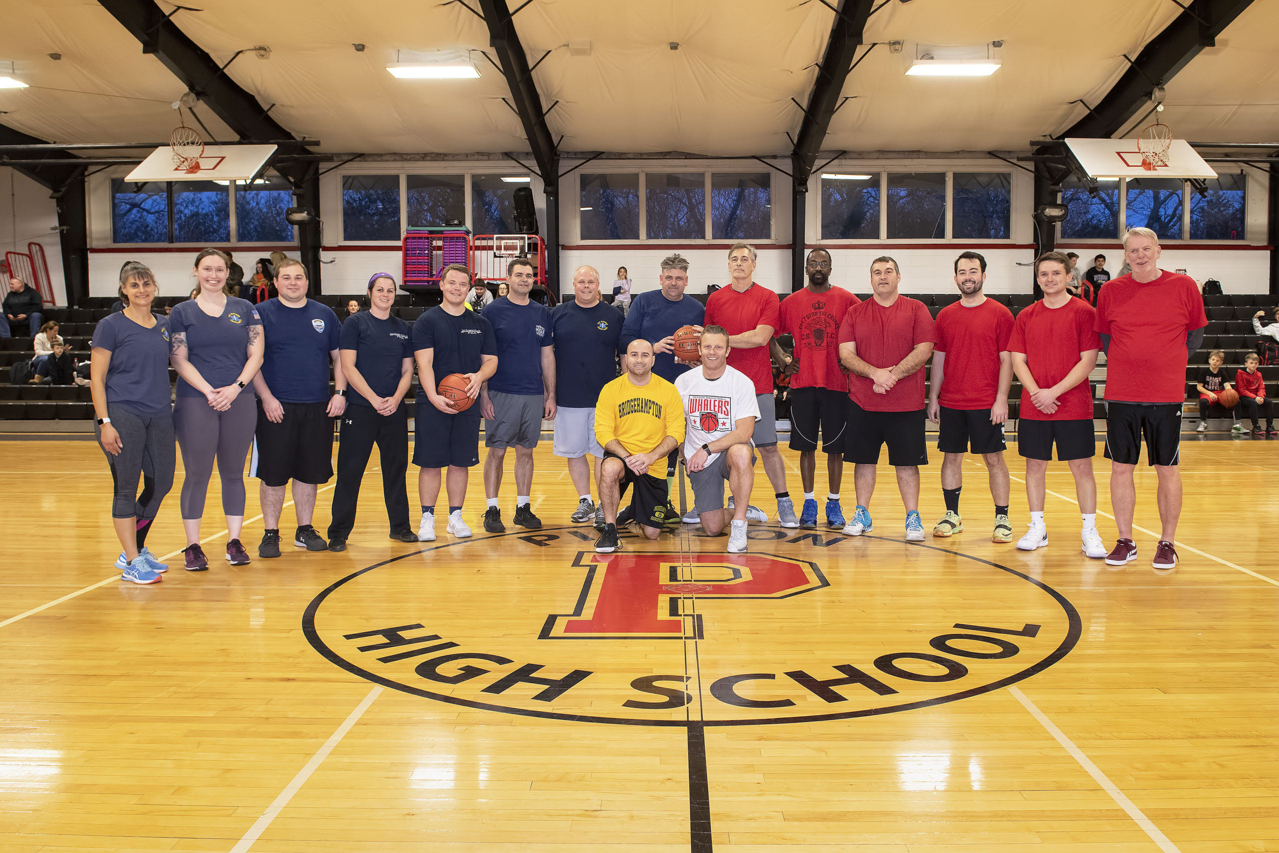 The Pierson faculty took on the Sag Harbor First Responders in a friendly game of basketball in the Pierson gymnasium on Friday afternoon.   MICHAEL HELLER