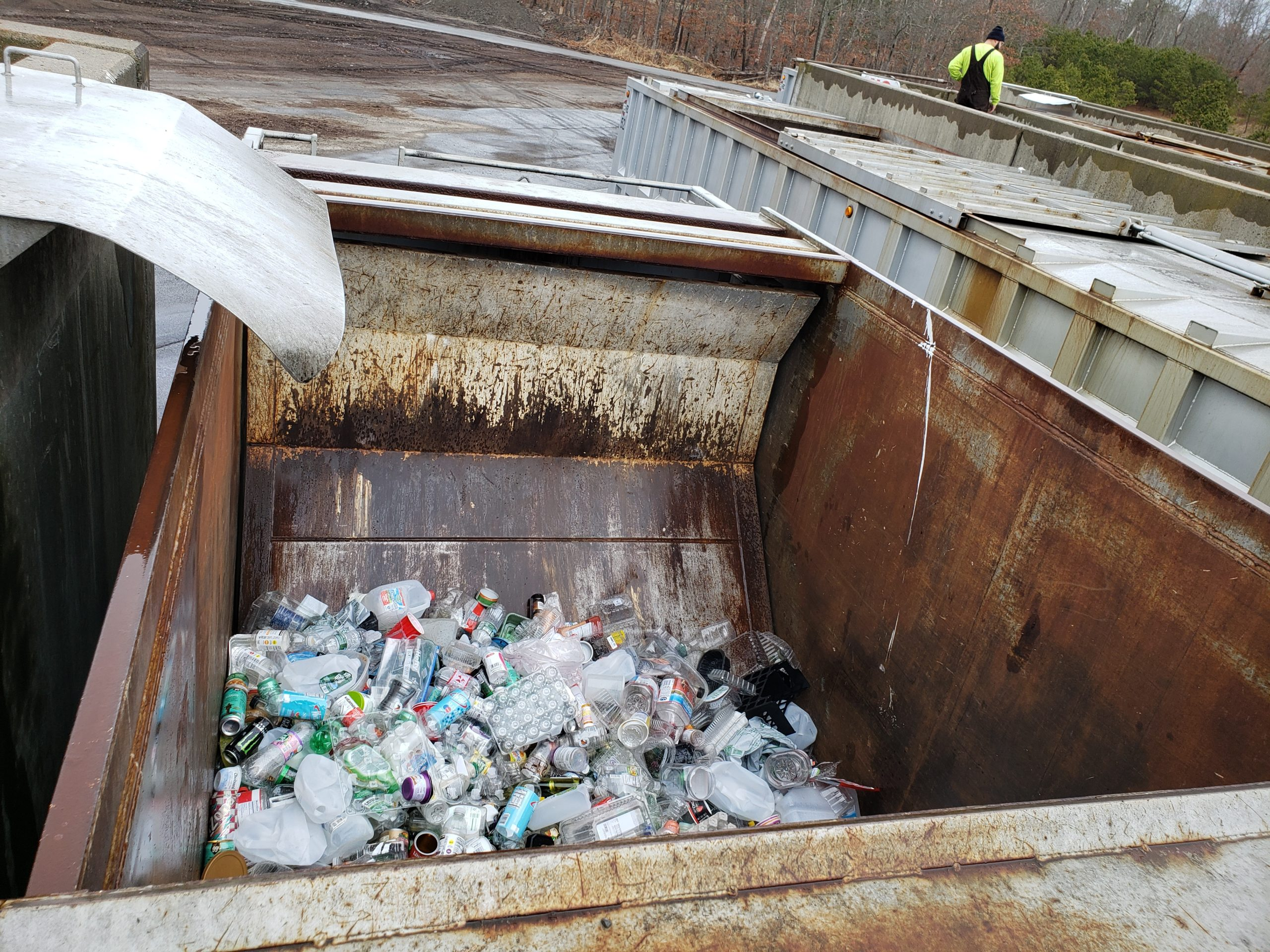 Southampton Town residents can drop off recyclable materials at any of the transfer stations in the town. GREG WEHNER