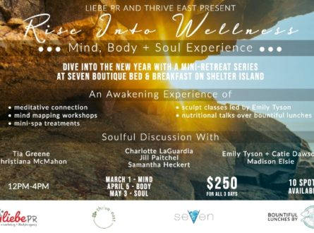 Rise Into Wellness With Thrive East & Liebe PR