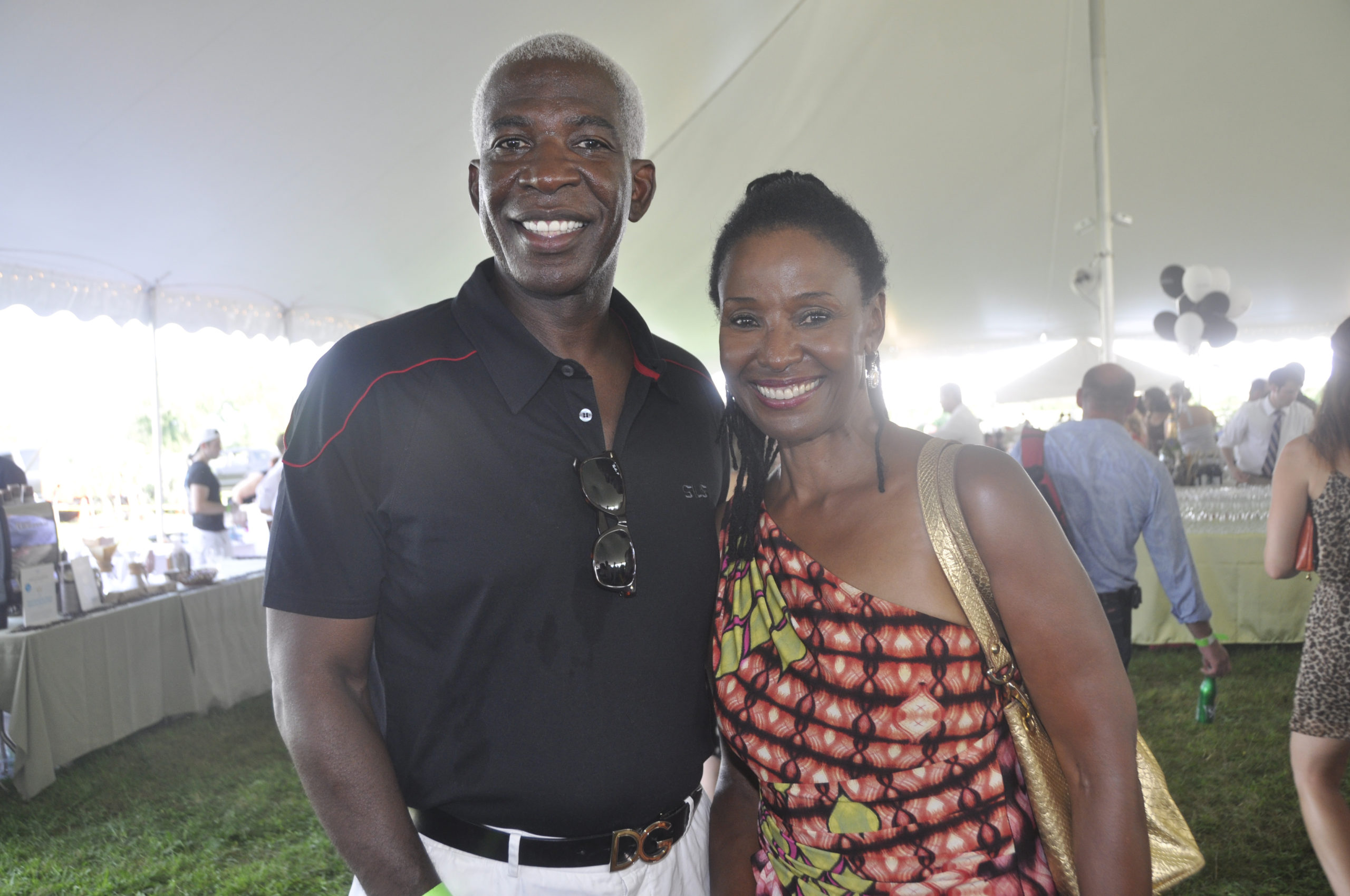 Dan Gasby and B. Smith at an event in Sagaponack in 2011.  PRESS FILE