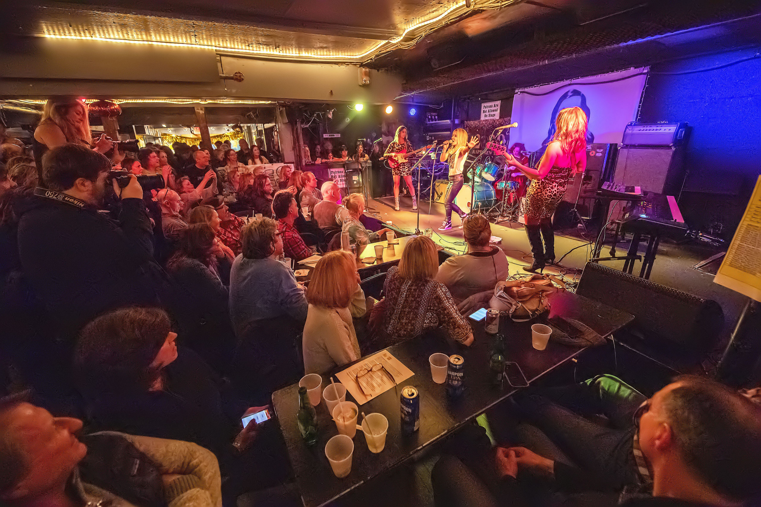 The band Minxx takes the stage to a capacity crowd during the 4th Annual Battle of the Fantasy Girl Bands to benefit the Neo-Political Cowgirls that was held at the Stephen Talkhouse in Amagansett on Saturday night.   MICHAEL HELLER
