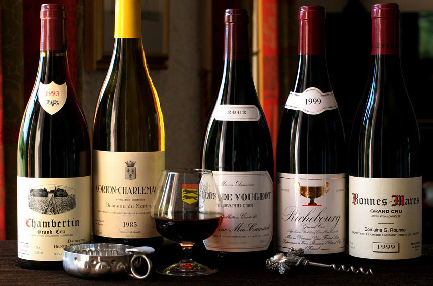 A selection of French wines the could get hit with tariffs.