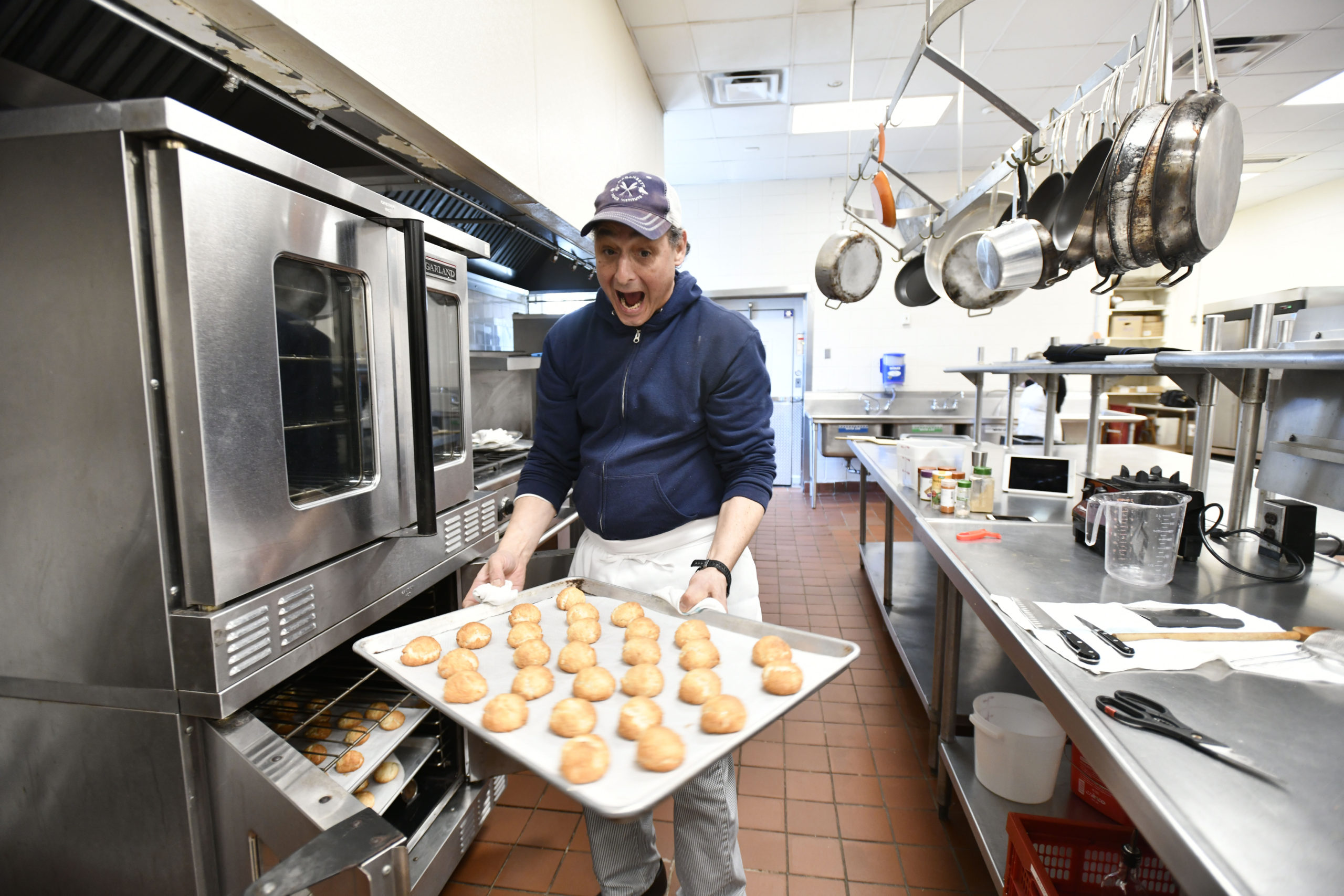 Robert Curreri of Robert's Bakestand in the kitchen at the Eat End Food hub.    DANA SHAW