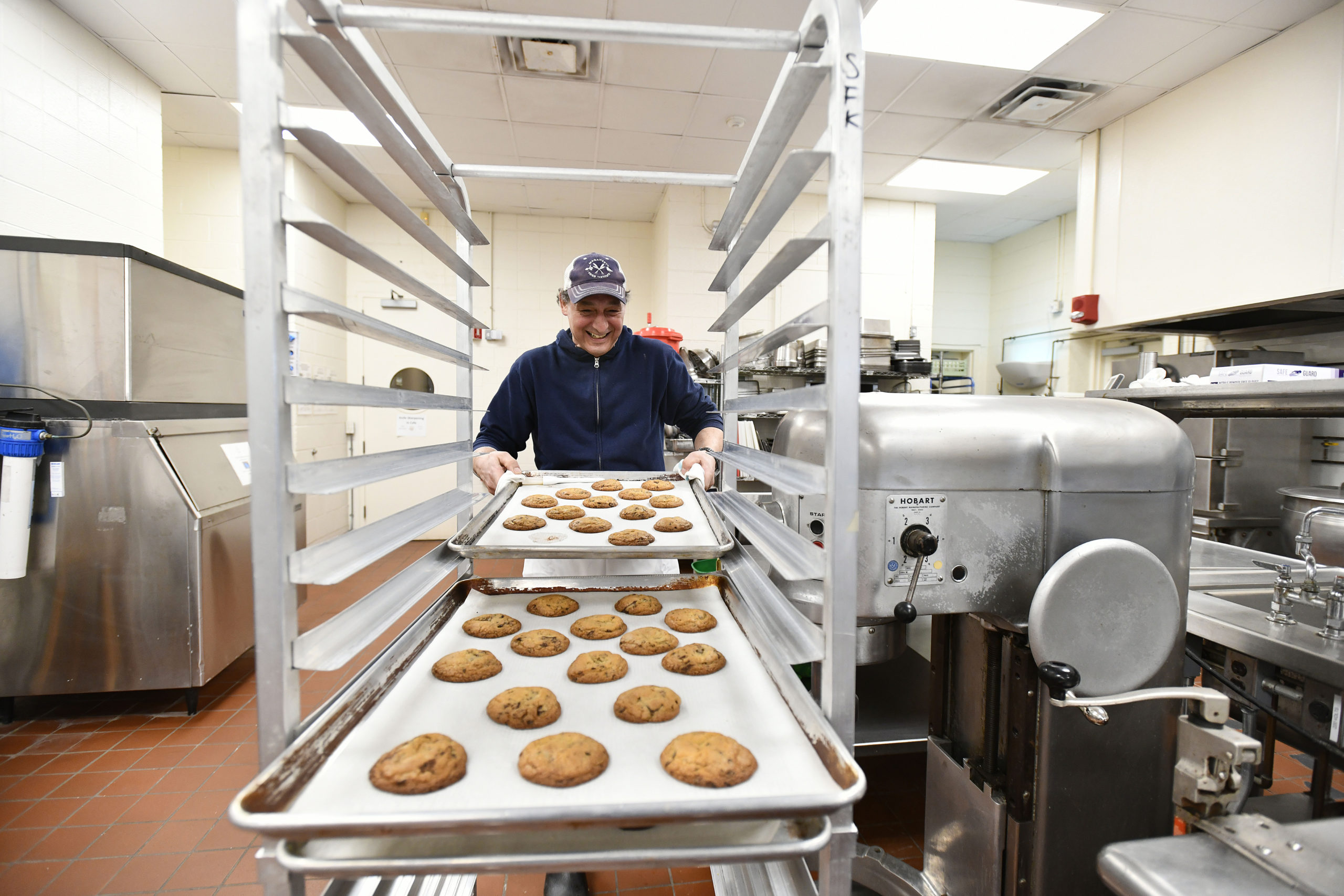 Robert Curreri of Robert's Bakestand in the kitchen at the East End Food hub.    DANA SHAW