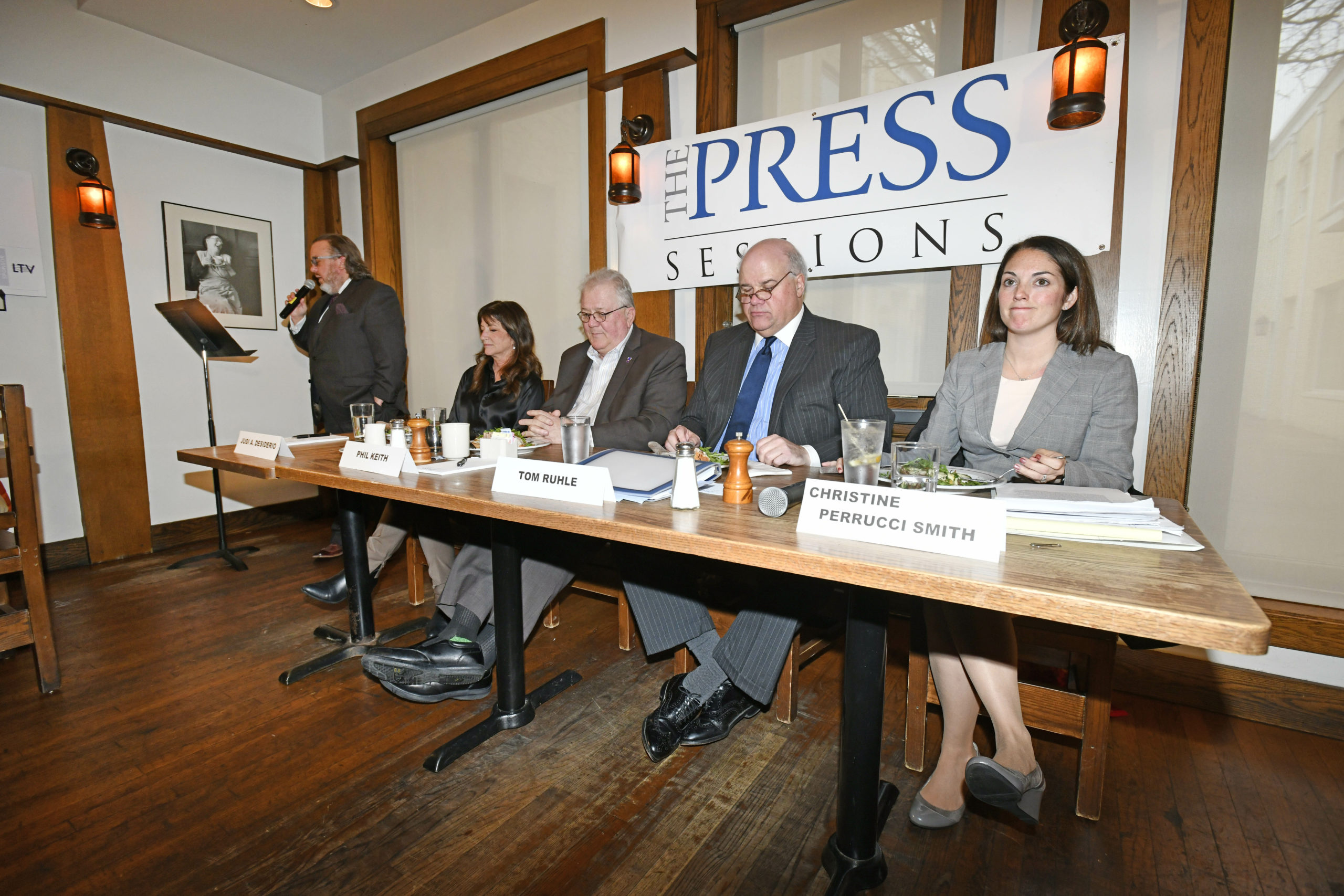 The panel at the Press Sessions,