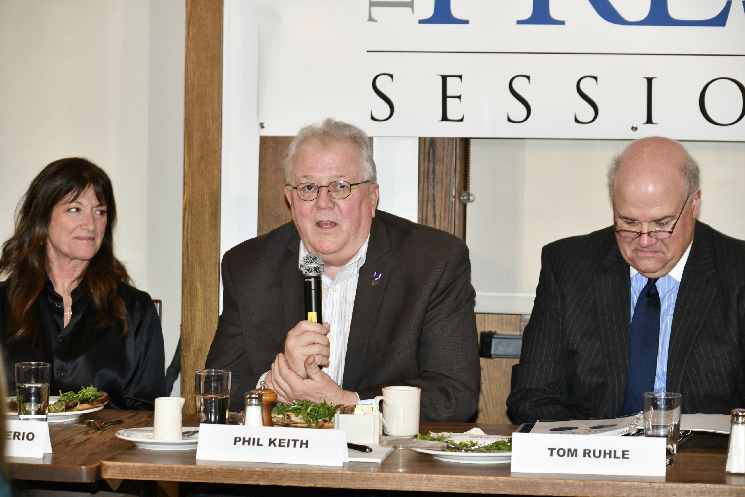 Panelists Judi Desiderio, Phil Keith and Tom Ruhle.  DANA SHAW