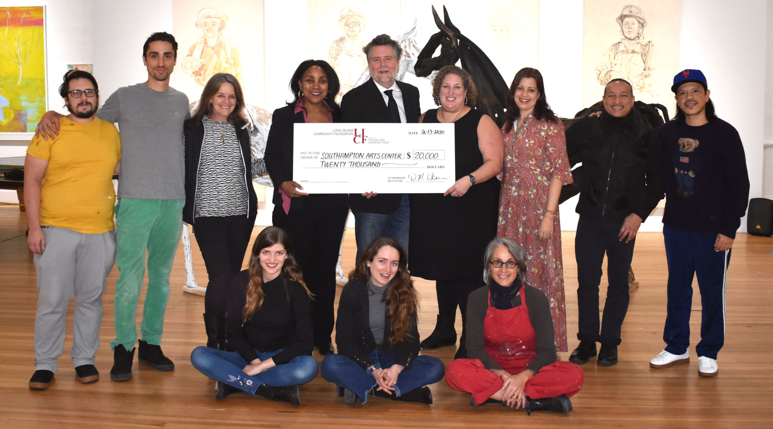 The Long Island Community Foundation recently presented a check for $20,000 to the Southampton Arts Center to support its off-season arts and culture program called TAKEOVER2. Using arts to support downtown rejuvenation during the slow months, SAC presents innovative, interactive, and creative activities and events that are inclusive of Southampton's diverse community.