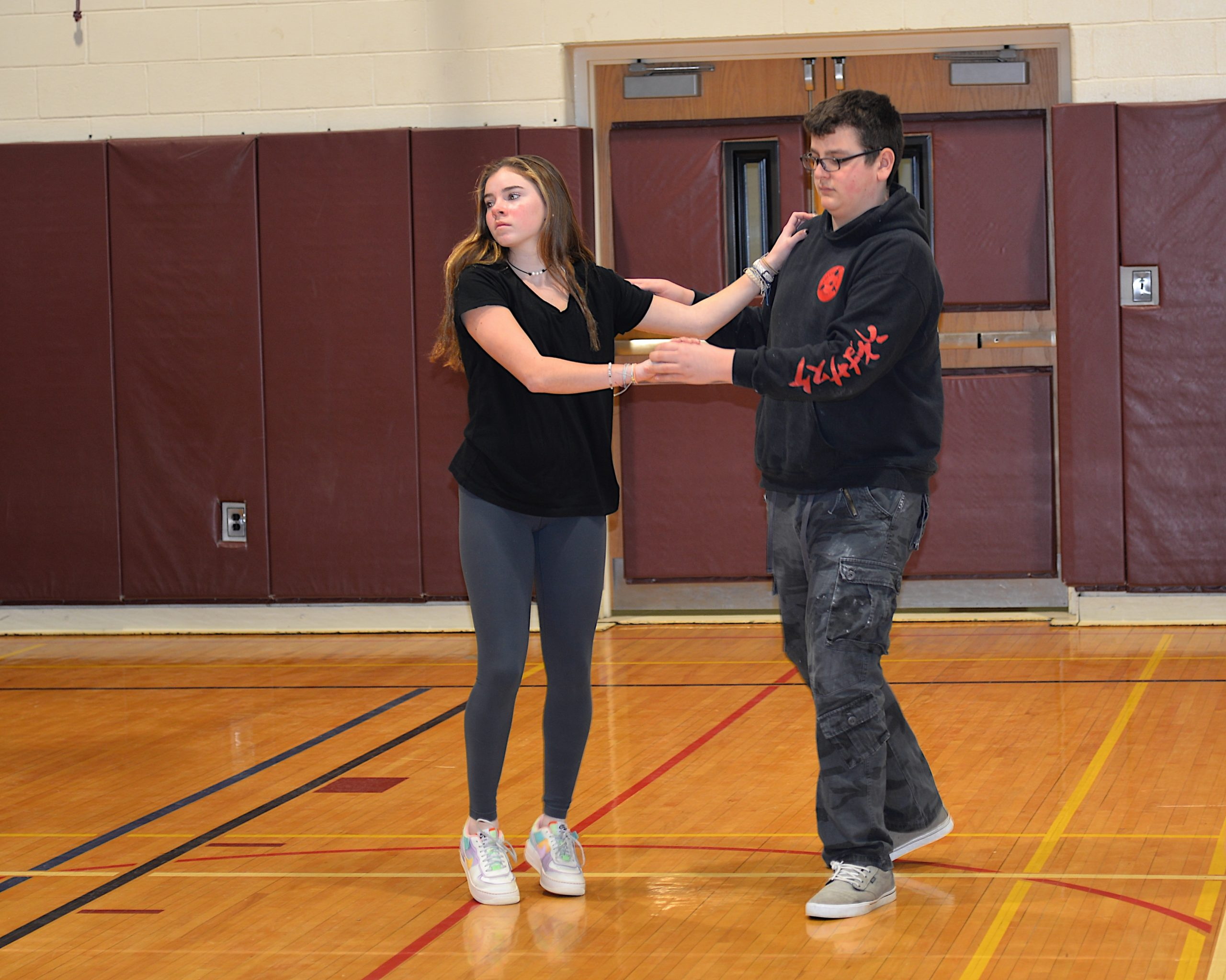 East Hampton Middle School students prepare for the Mad Heart Ball, which takes place at the school on Friday, February 7. KYRIL BROMLEY