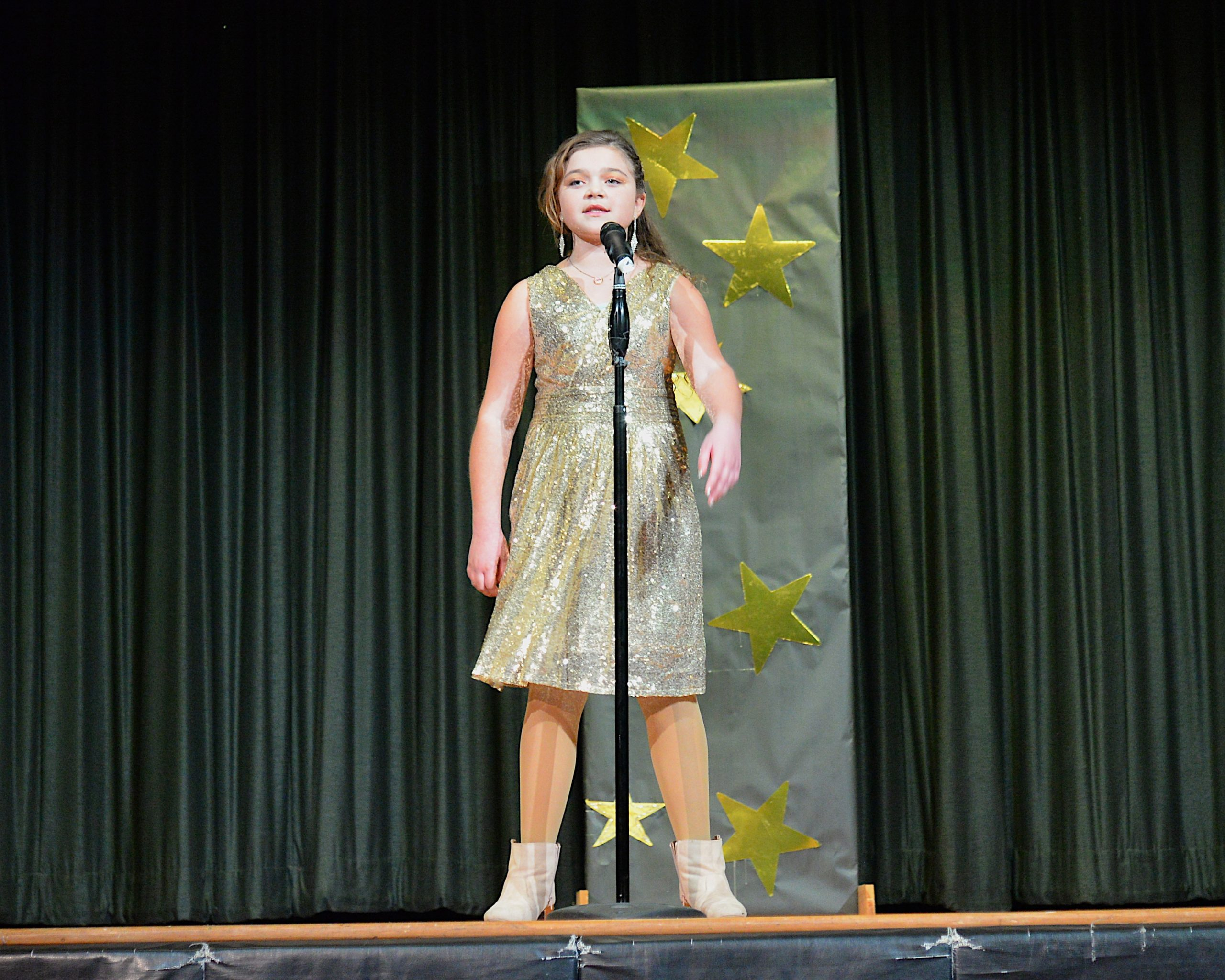 The Montauk School students were invited to participate in a Variety Show on Friday evening.  Jolee White was among the participants. KYRIL BROMLEY