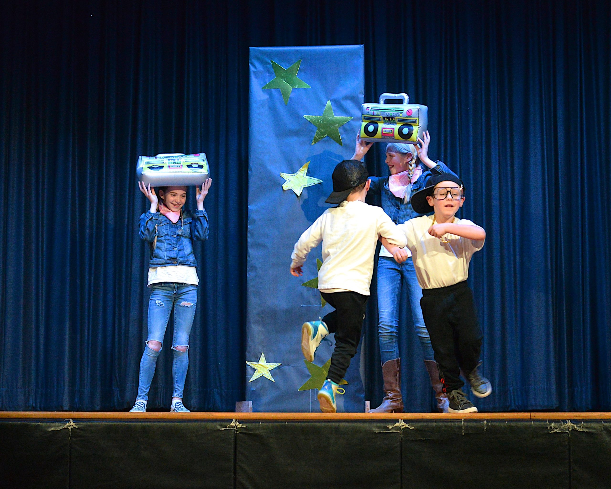 The Montauk School students were invited to participate in a Variety Show on Friday evening.  Riley Welsch, Maryjane Vickers, Cooper Meehan and Conor McCann performed. KYRIL BROMLEY