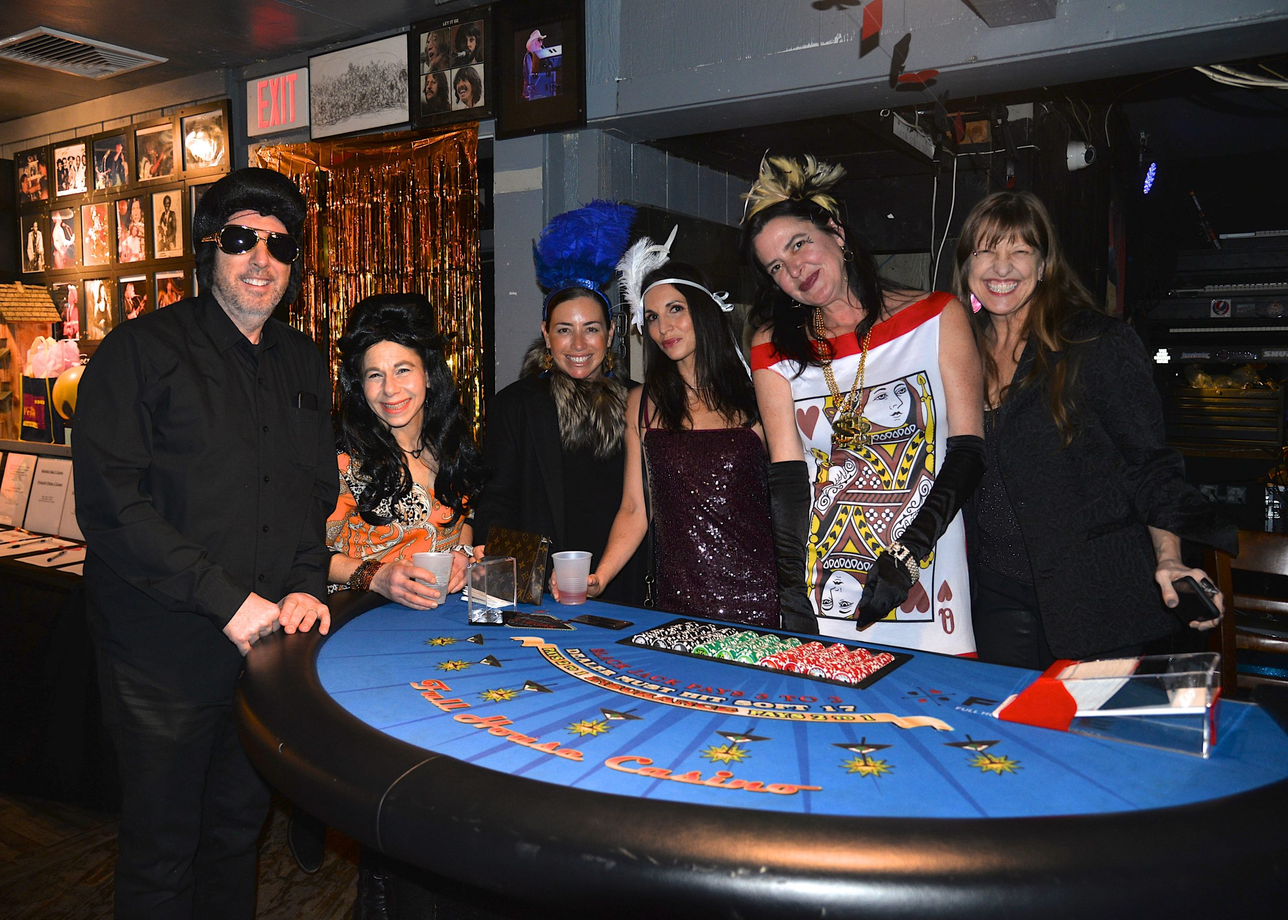 A Casino Night fundaiser for the Amagansett School took place at the Amagansett School last week, and, from left, Steven Ball, Charlotte Sasso, Ashley Blackburn, Janice Hummel, Jenny Brew and Jamie Kohl, were there. KYRIL BROMLEY
