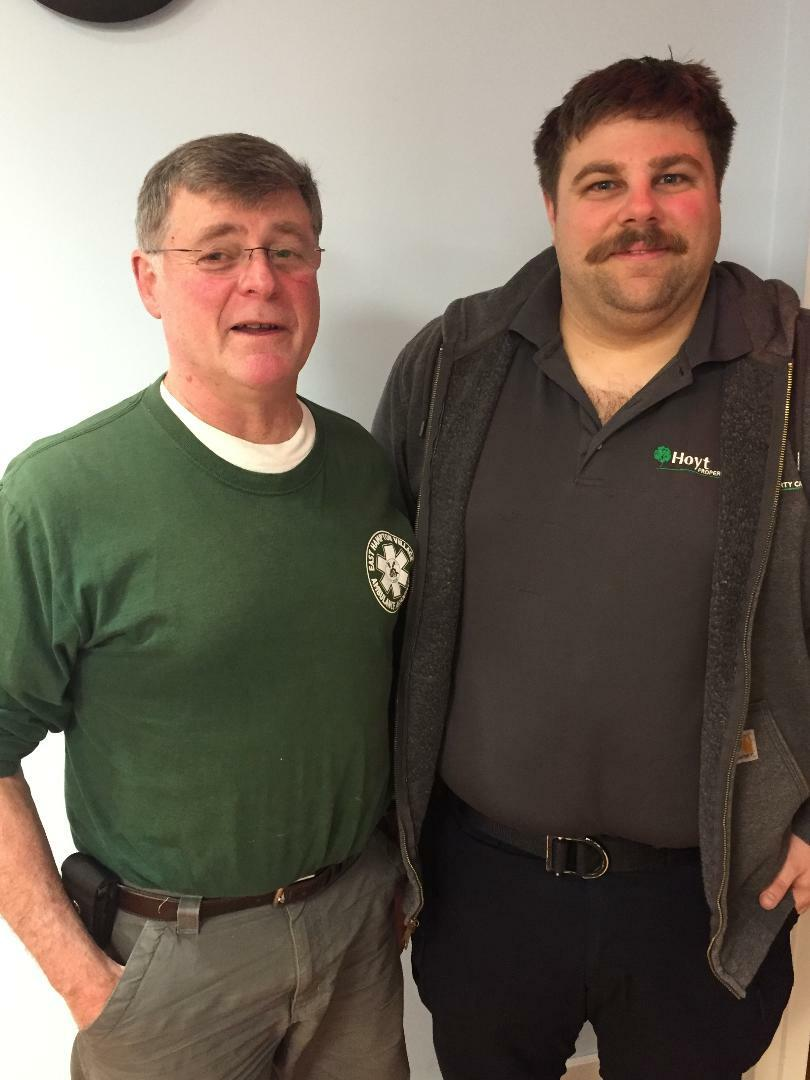 East Hampton Village Ambulance Association has named Paul D'Andrea, left, Member of the Year for 2019 and Ian Hoyt is the recipient of the EHVAA Chief's Award. D'Andrea responded to 330 emergency calls last year.