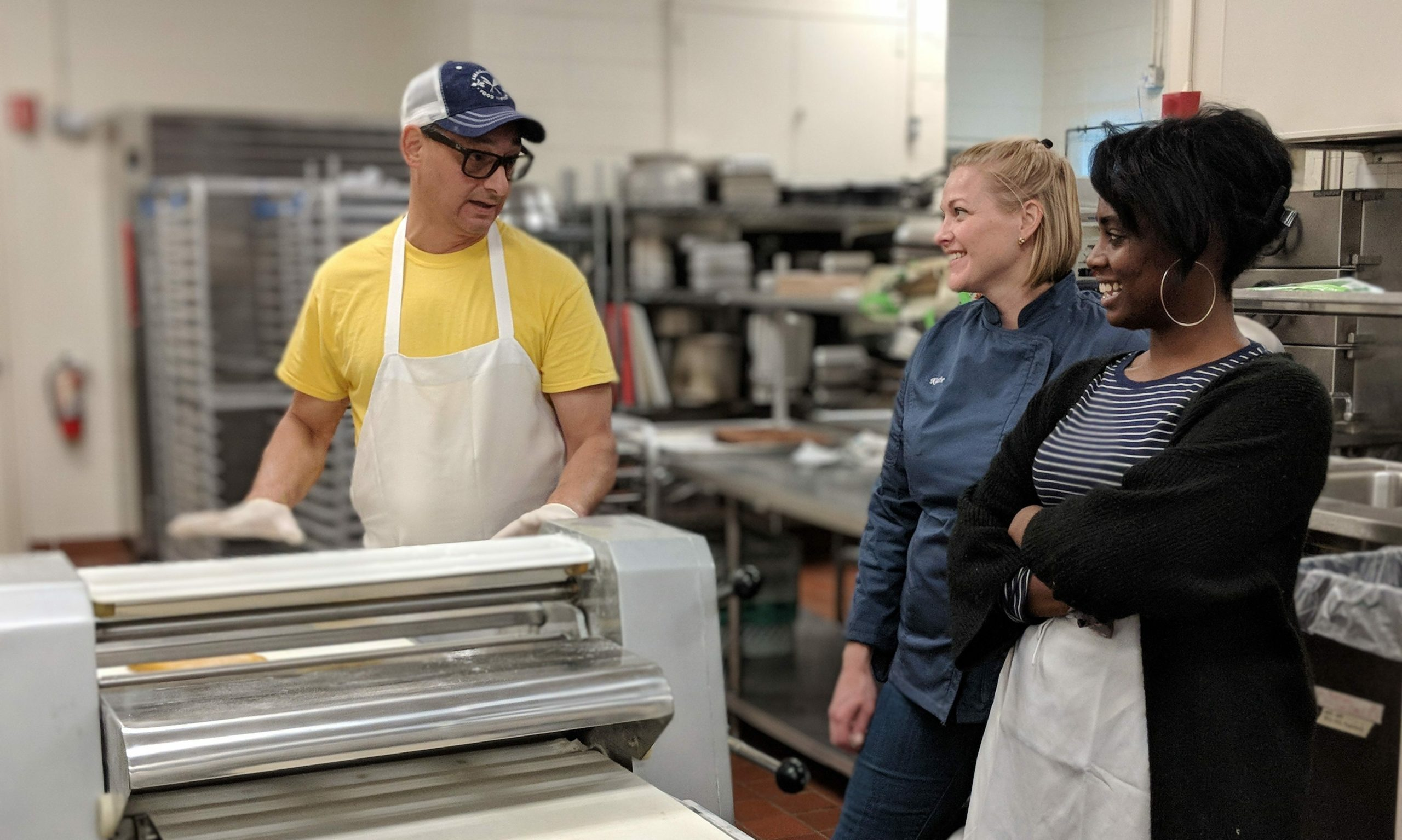 In the kitchen at East End Food Institute.