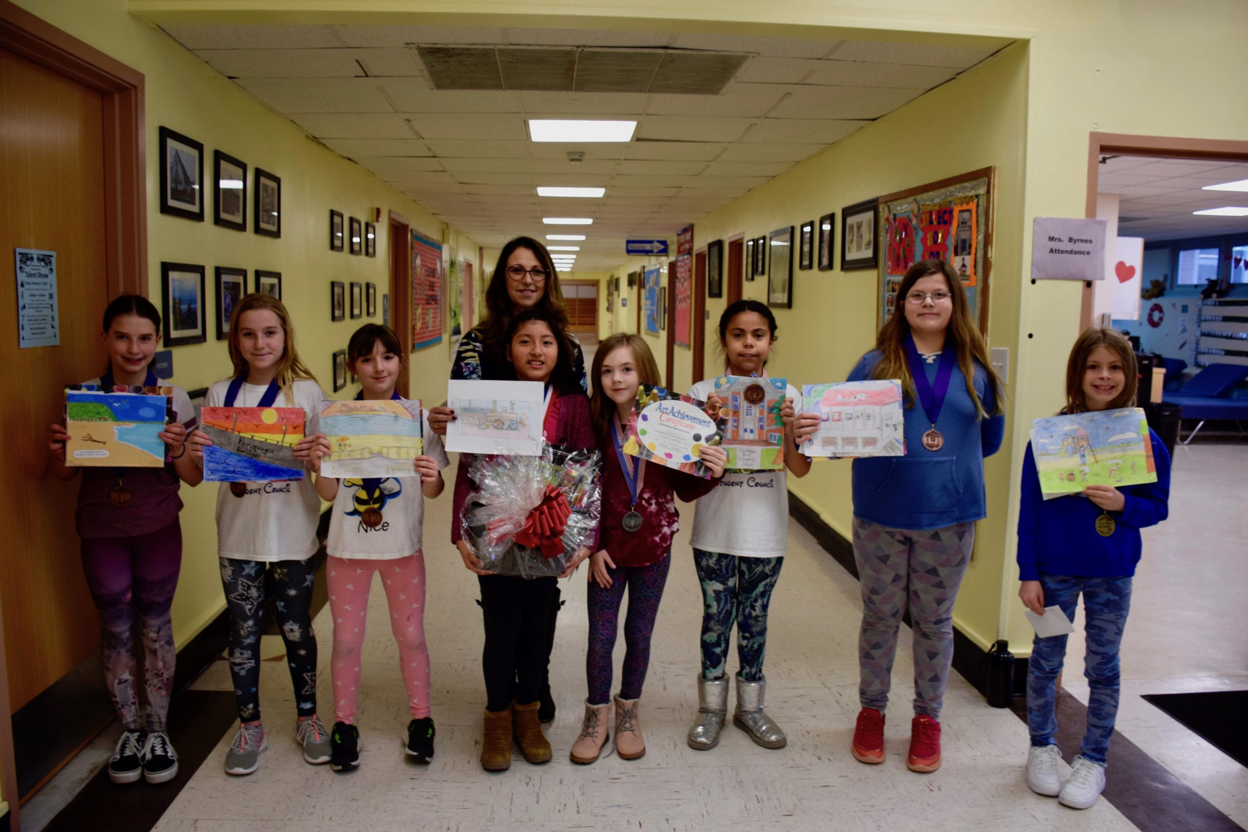 An anonymous donation of art supplies led to a schoolwide art contest at Hampton Bays Elementary School.