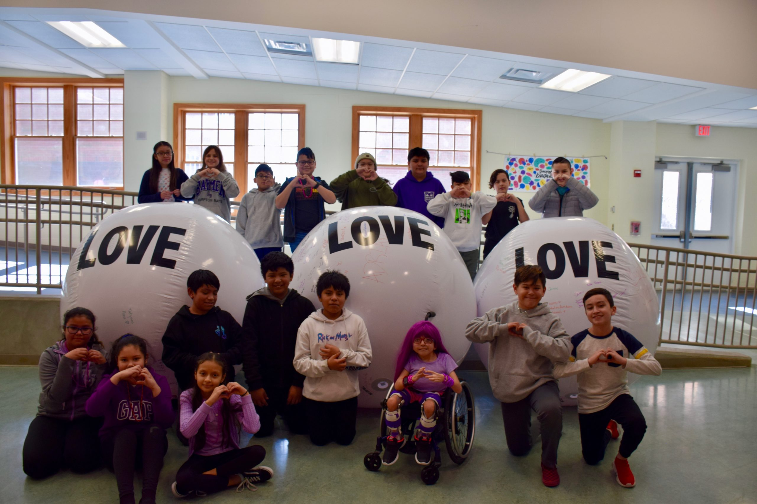 Continuing its mission to foster a culture of kindness, Hampton Bays Middle School held P.S. I Love You Day, an initiative where students took part in a variety of activities throughout the week of February 10. Now in its 10th year, P.S. I Love You Day aims to raise awareness about bullying and suicide while promoting kindness.