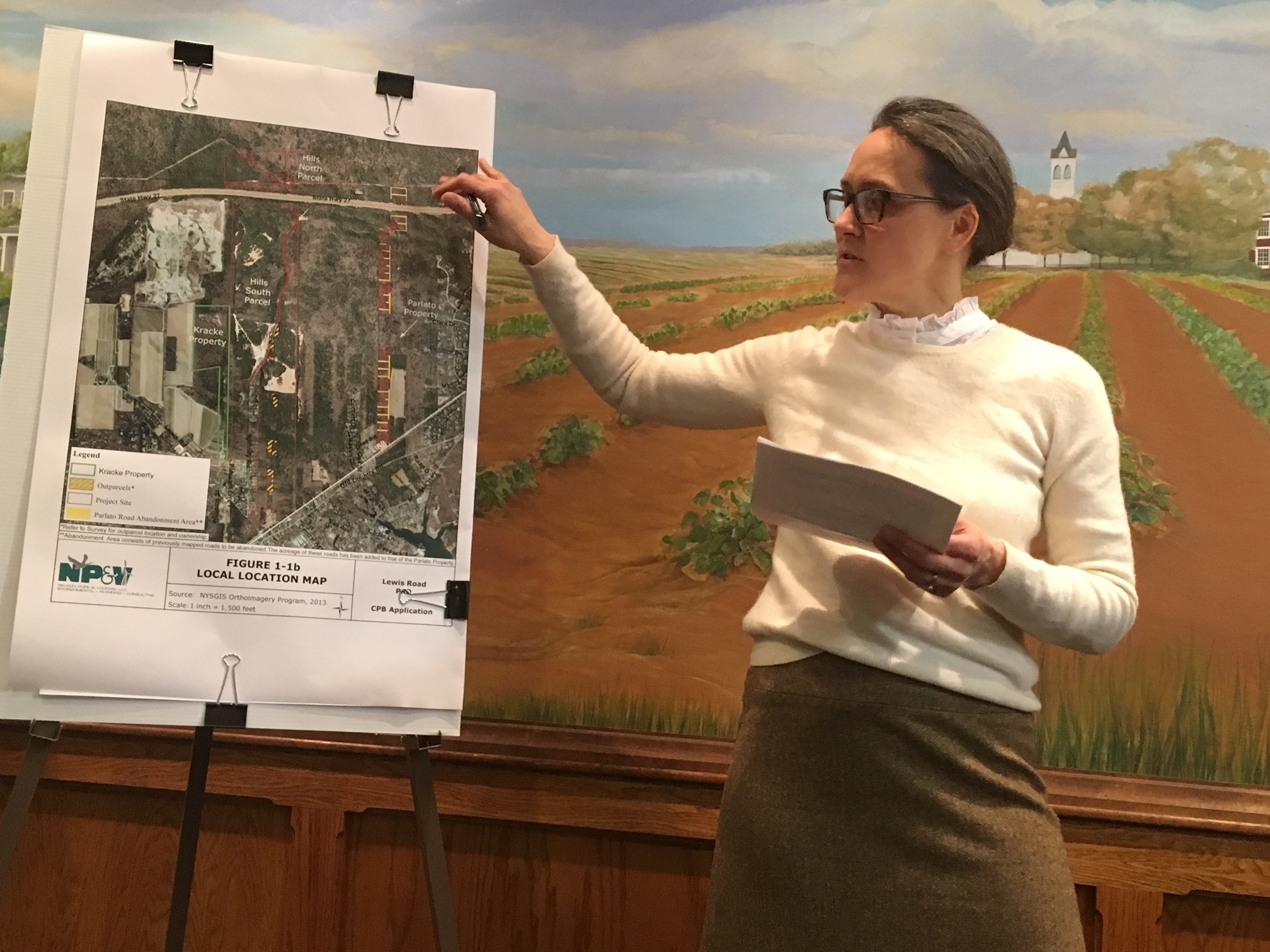 Principal planner Julie Hargrave gave an overview of the project. KITTY MERRILL