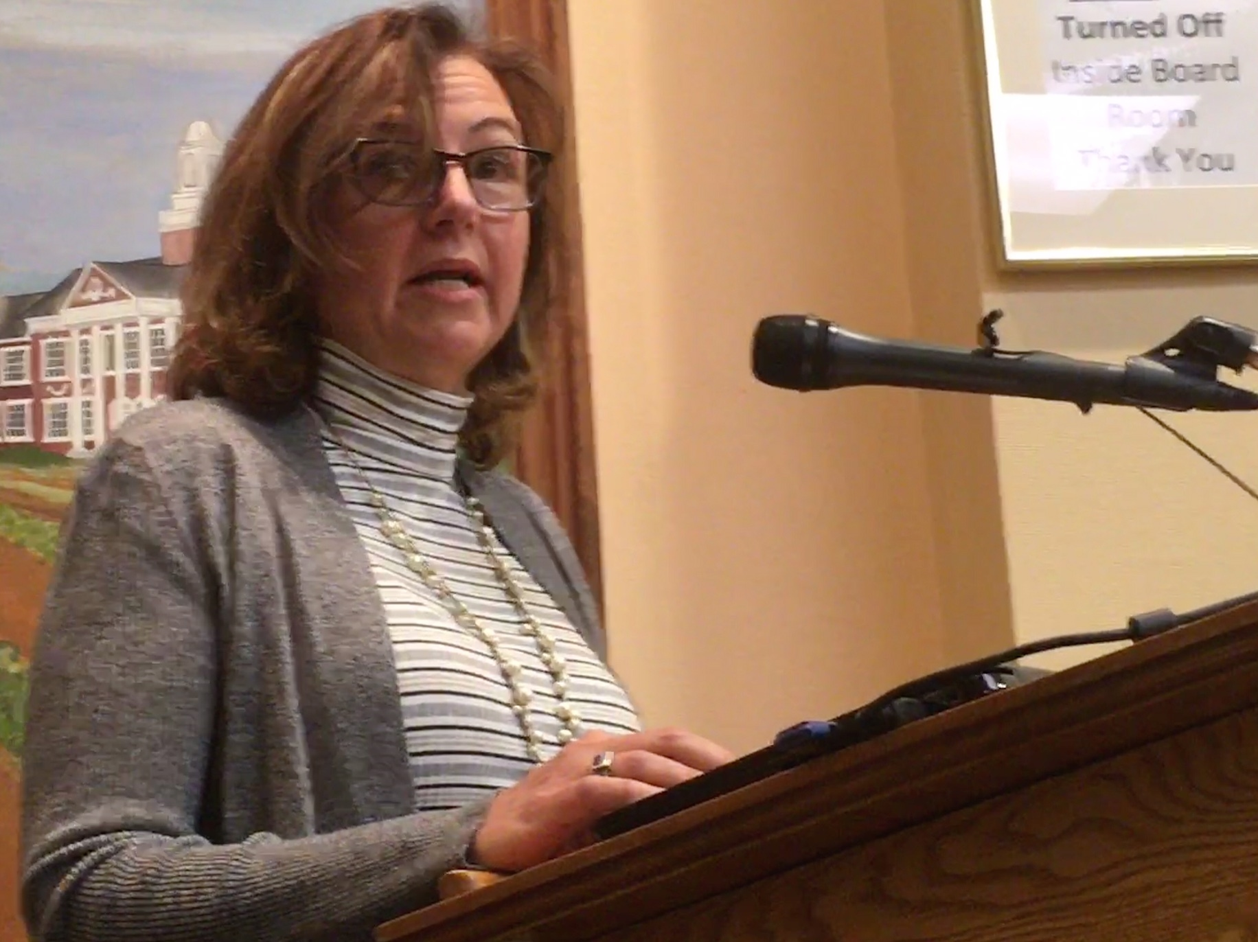 Karen Coy said said those who claim to speak for the community do not. KITTY MERRILL