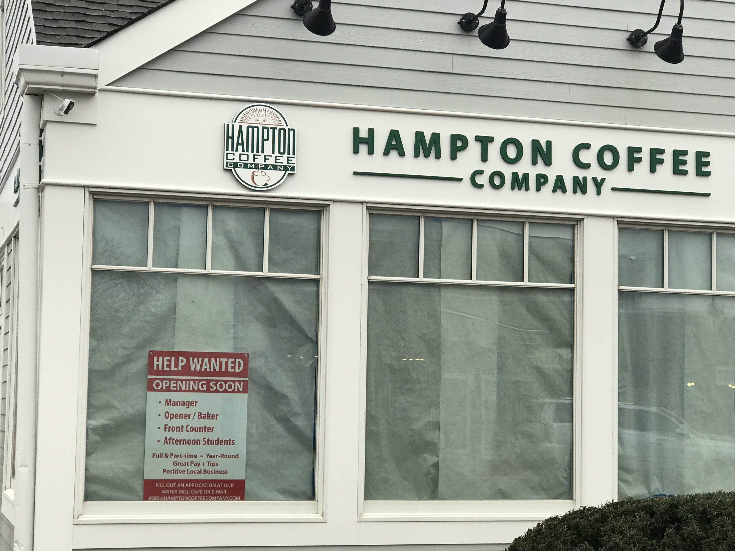 The Hampton Coffee Company is headed east with plans to open in the former Bliss Kitchen site in Montauk. VIRGINIA GARRISON