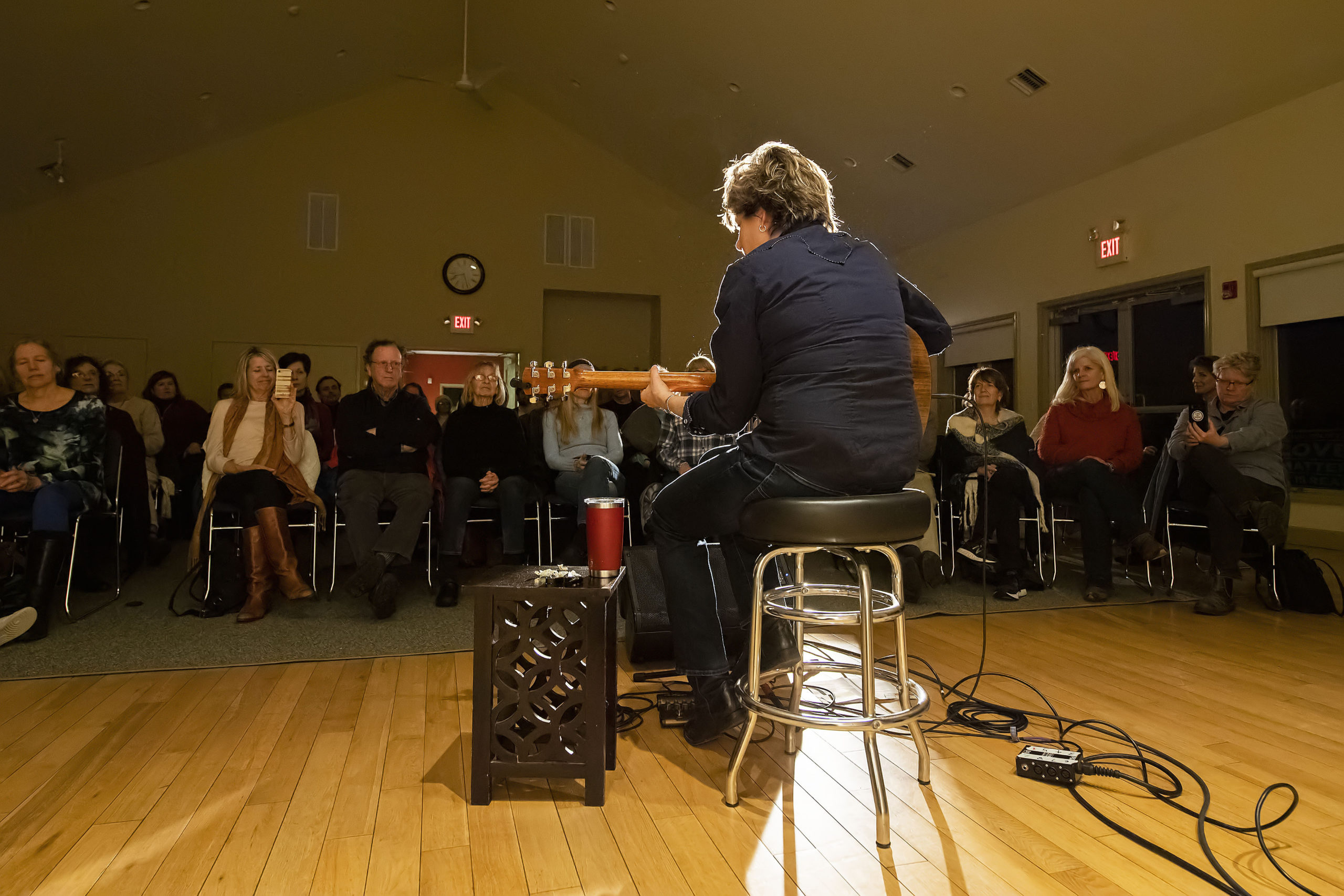 Inda Eaton was the guest at the sixth annual Songwriters Share Concert Series, hosted by the Unitarian Universalist Congregation in Bridgehampton on Friday. MICHAEL HELLER