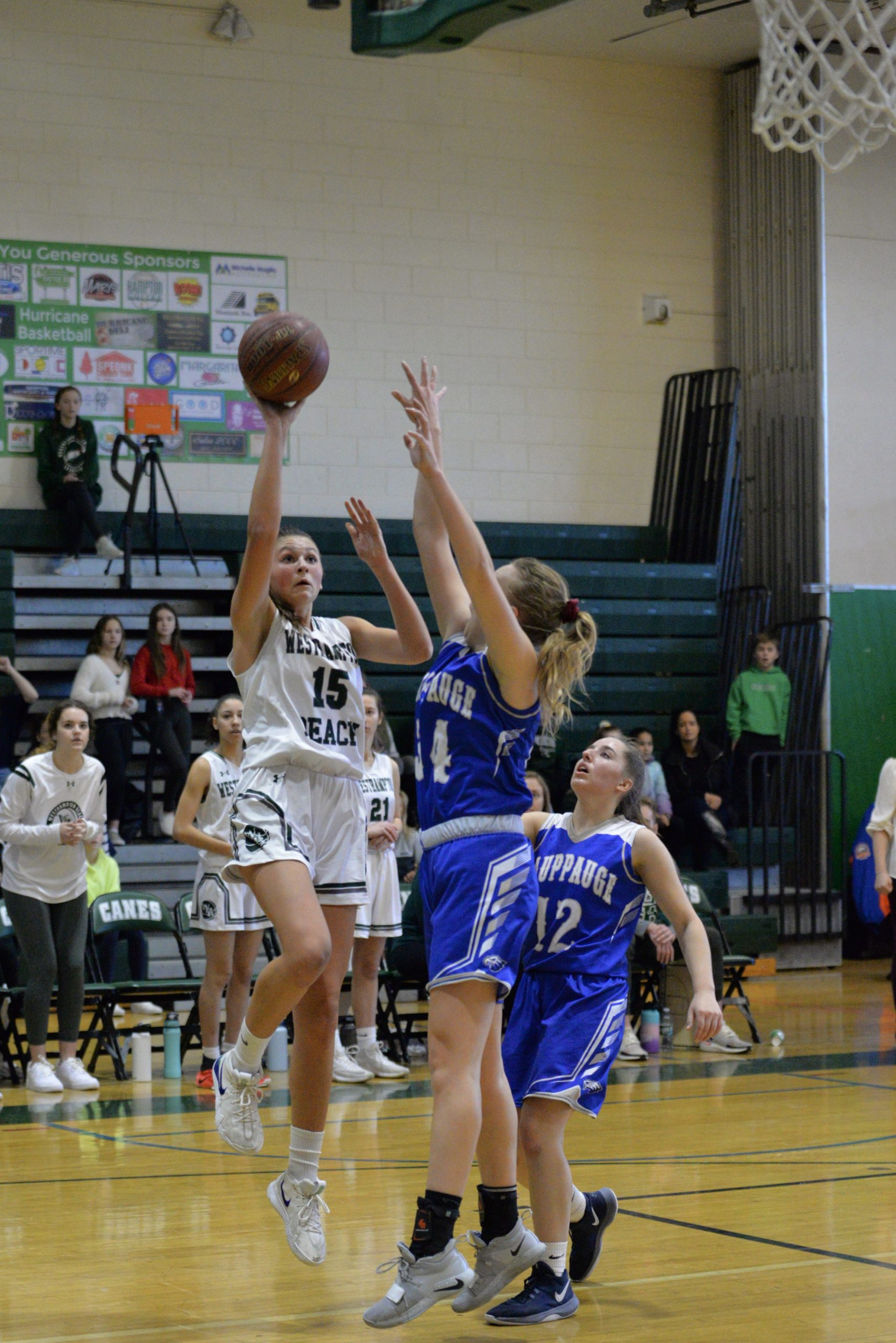 Olivia Rongo made a couple of big players for the Lady Canes on Friday.