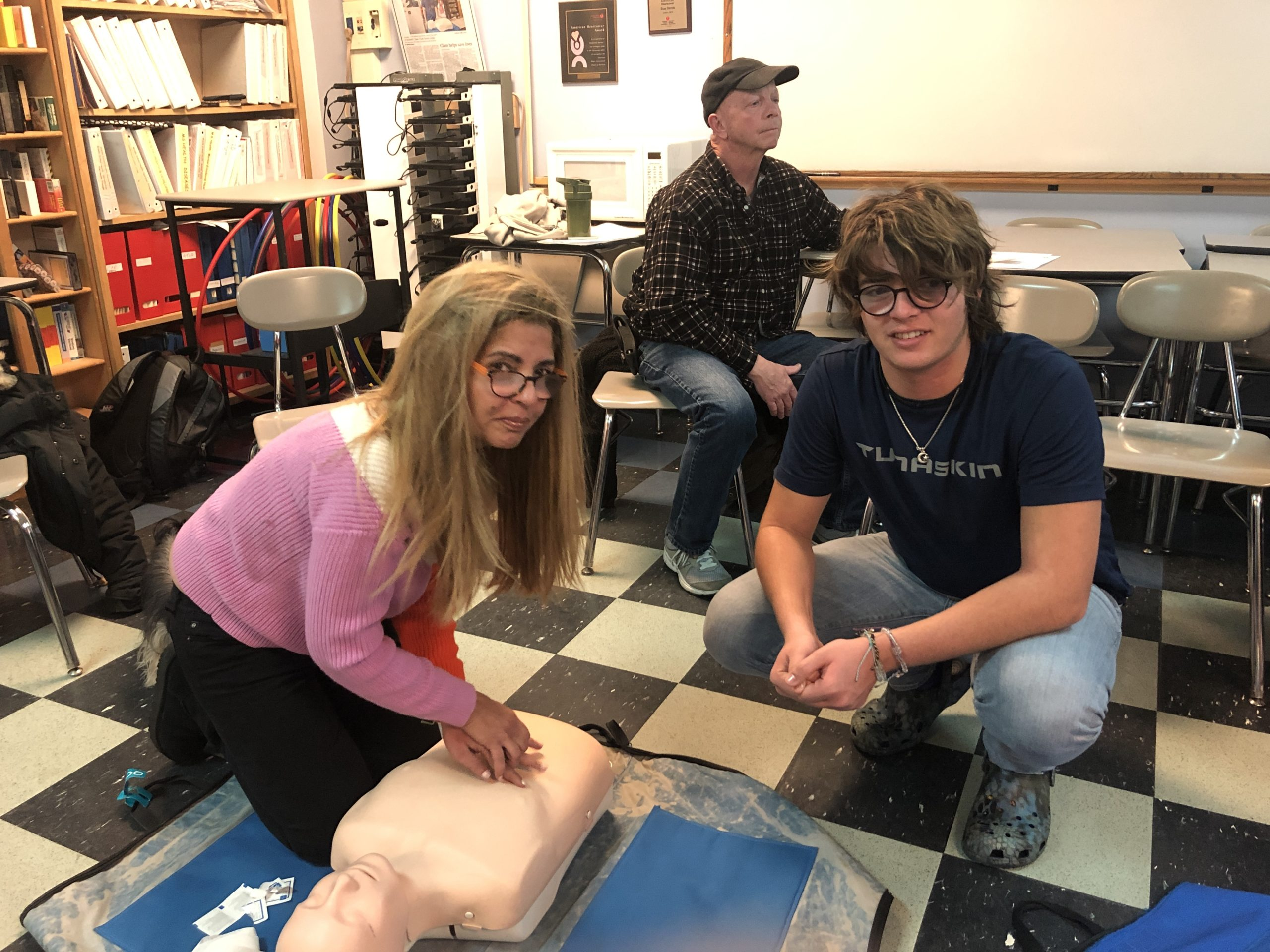 Pierson Middle School seventh-graders recently learned CPR and life-saving skills in gym class, as part of their participation in American Heart Month.