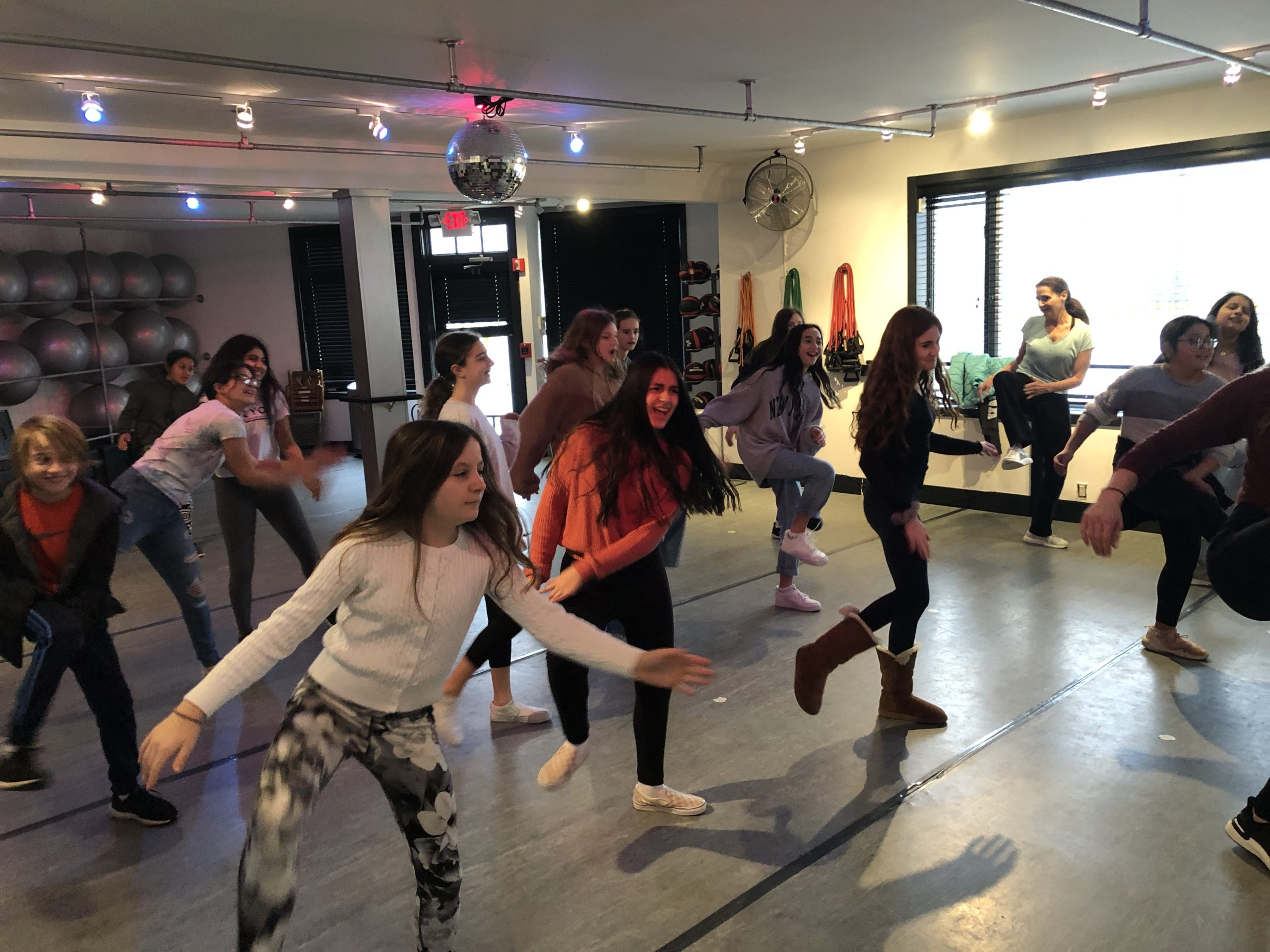 As part of their study of neuroplasticity in PLANT class (Preparing Learners for a New Tomorrow), Pierson Middle School sixth-graders are learning about the positive effects dancing can have on the brain and memory.To gain a firsthand experience, teacher Eileen Caulfield's students recently participated in a dance class at the AKT Studio in East Hampton.