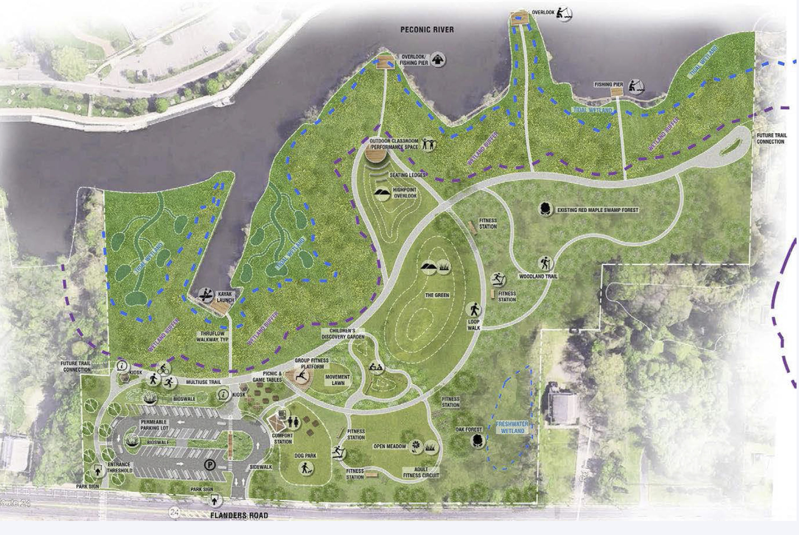 The design of the propsed park in Riverside.