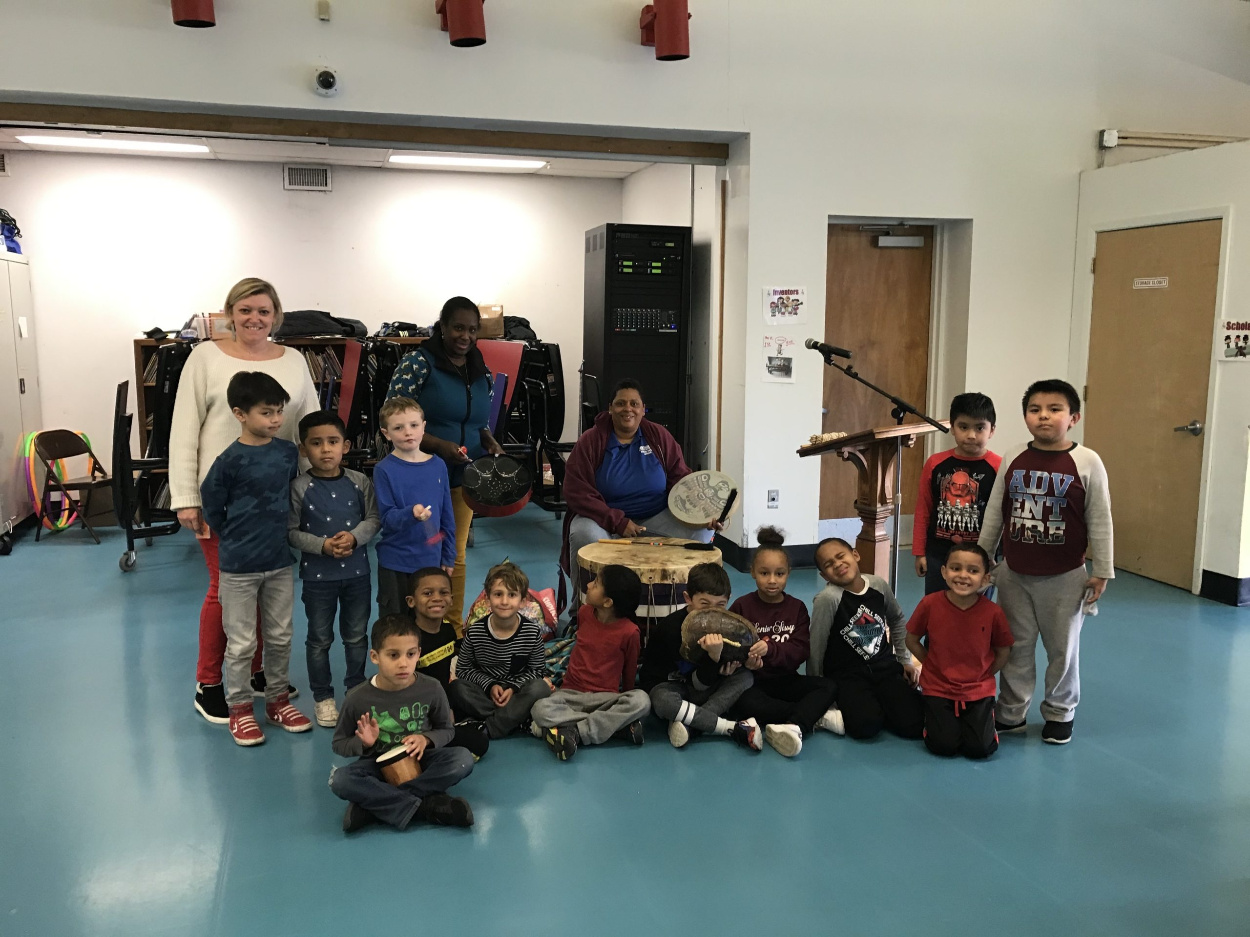 As part of a science lesson on sound, Southampton Elementary School first graders recently participated in a drumming lesson with Serena Lee of the Shinnecock Nation. The students experienced how vibrations make sound and how they can use sound to communicate.