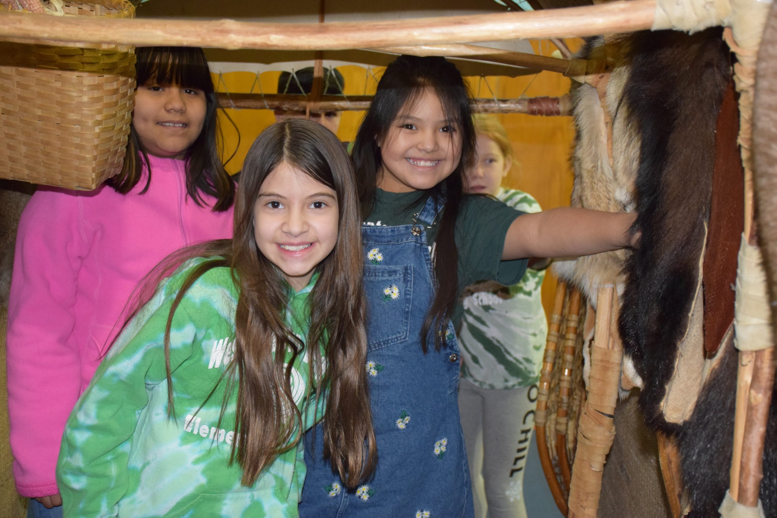 Westhampton Beach Elementary School fourth graders explored Native American artifacts during a special hands-on program, Journeys into American Indian Territory, an annual program sponsored by the PTA.