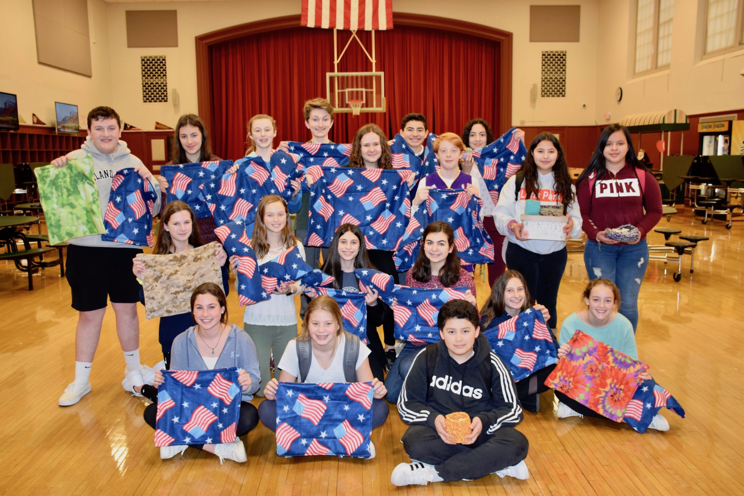 Westhampton Beach Middle School students are doing their part to help animals injured in Australia's devastating fires by sewing fleece crate blankets and crocheting bird and small animal nests. All of the items will be delivered to Australia through the Animal Rescue Collective Craft Guild.
