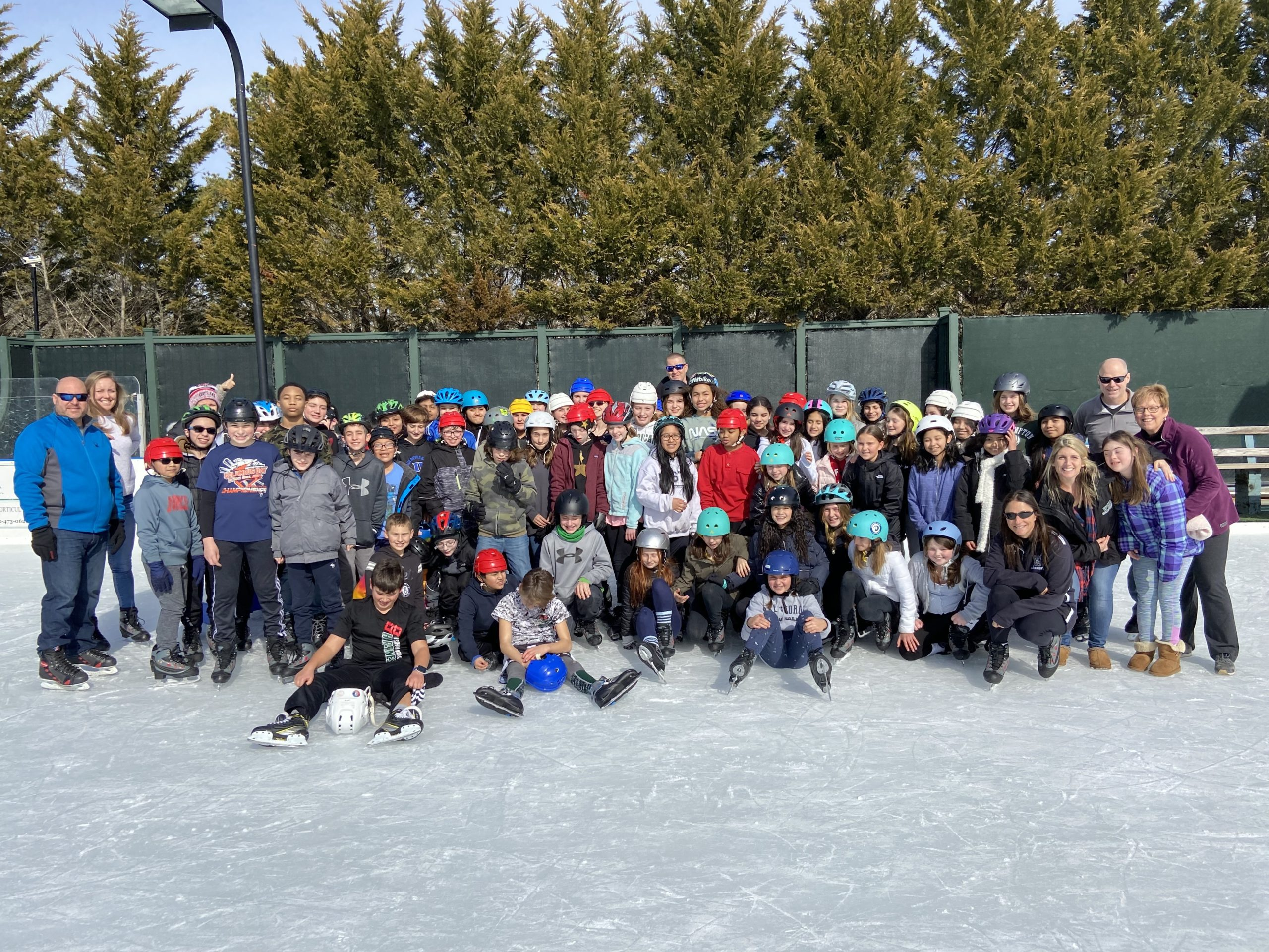 As part of their physical education class, Westhampton Beach Middle School sixth graders enjoyed a day of outdoor ice skating at Buckskill Winter Club in East Hampton on February 12. For many students, it was the first time the had skated.