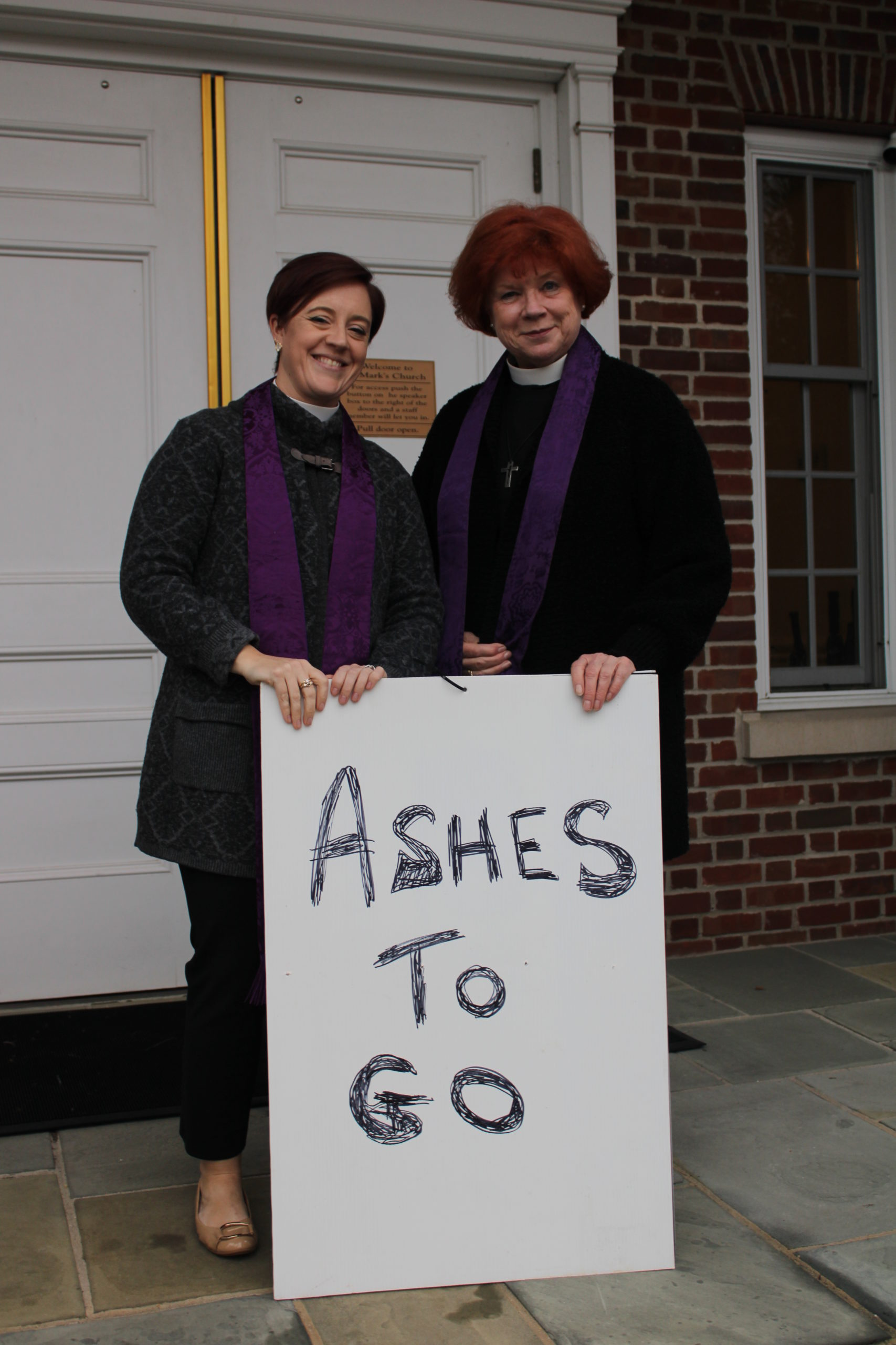 The Reverend Vanessa Winters of the Westhampton Presbyterian Church and The Reverend Canon Lesley Hay of St. Mark's Church in Westhampton Beach.