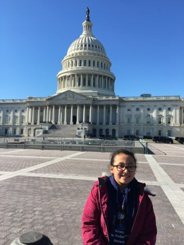 Tuckahoe School third-grader Brenda Perez recently visited Washington D.C. as part of an outreach program offered through the Children's Museum of the East End.