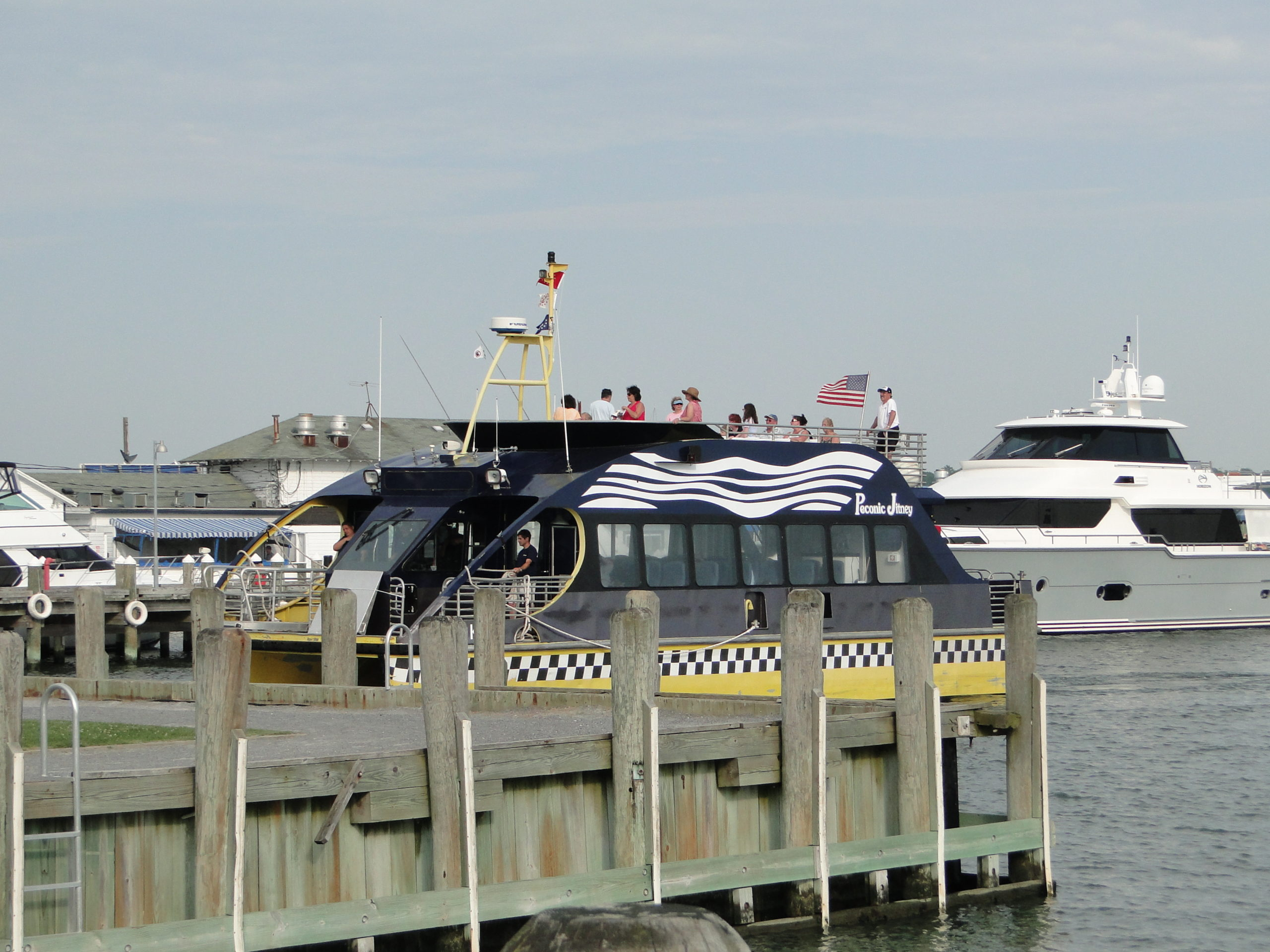 The Peconic Jitney, which ran a successful pilot service between Sag Harbor and Greenport in 2012, is hoping to return on a permanent basis.    PRESS FILE