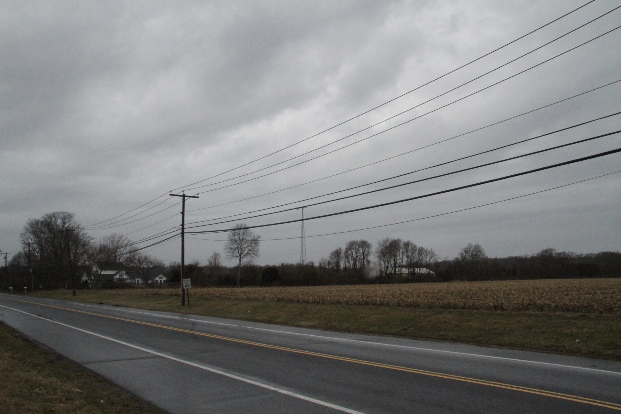 The cell tower off Bull Path would be most visible from the open vistas of Long Lane, albeit from a distance, town planning staff have said.