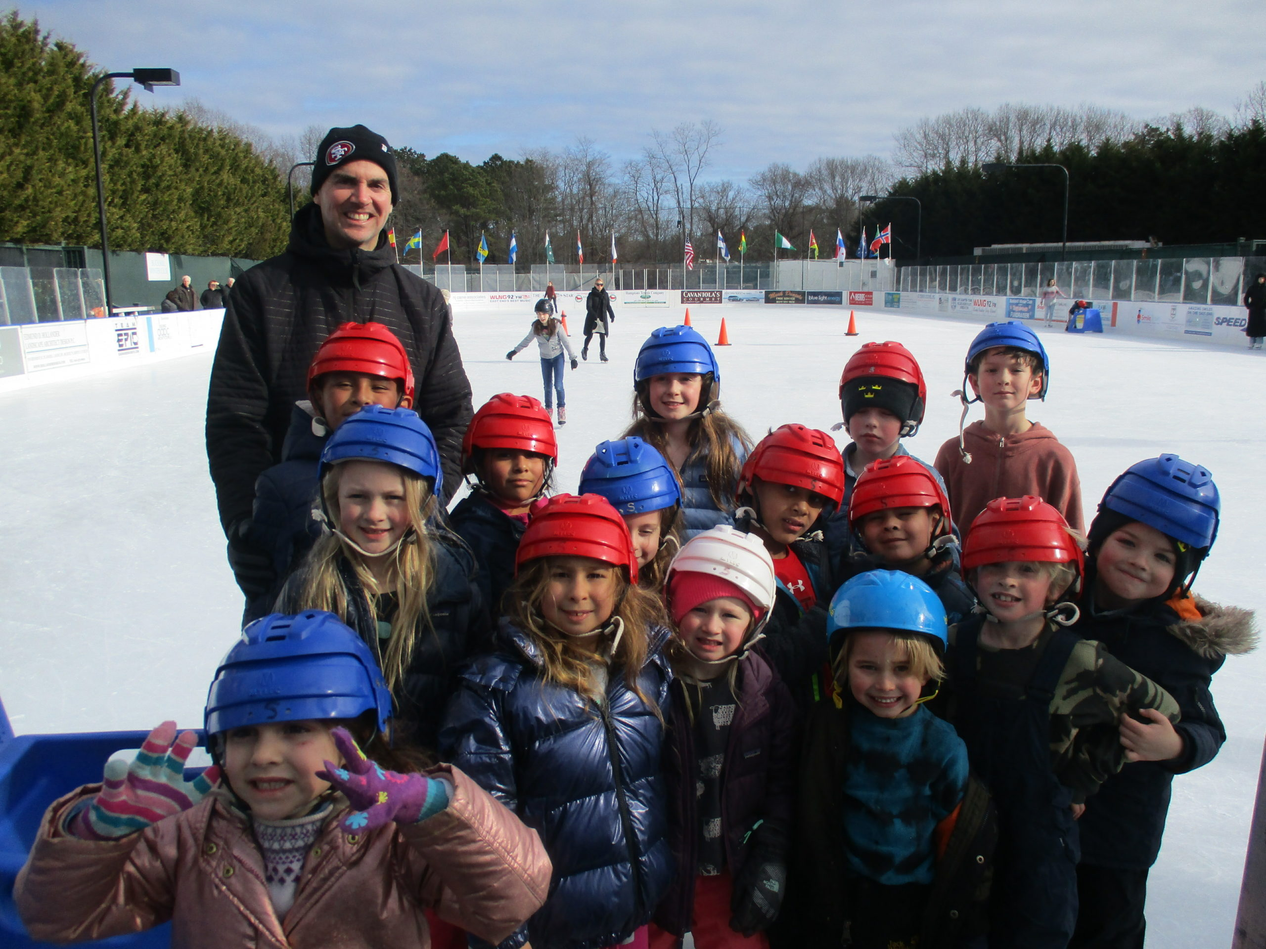 Sagaponack School students get physical education time at the Buckskill Winter Club.