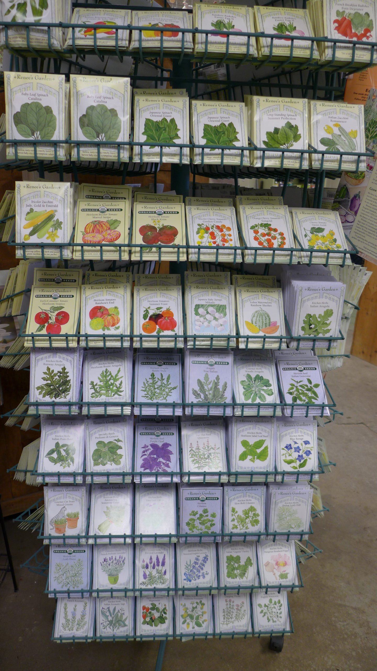 Most garden centers will have their seed racks out in early March. Shop brand names like Burpee, Johnny's, Renee's and others. If you're not familiar with the brand, as you may find on some discount outlets, maybe pass them up?