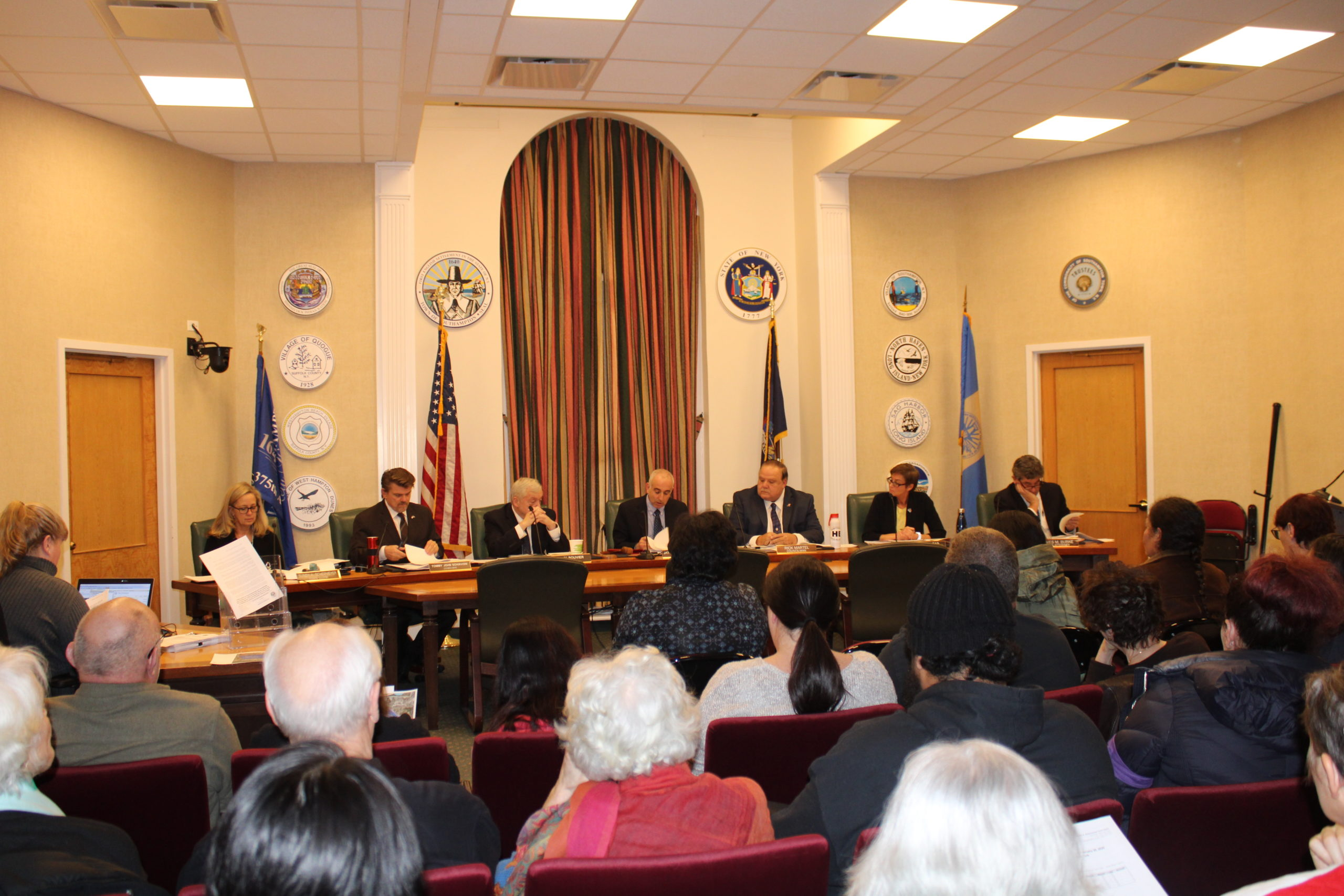 The Southampton Town Board unanimously approved the preservation of vacant parcels of land around the protest site at 513 Montauk Highway.