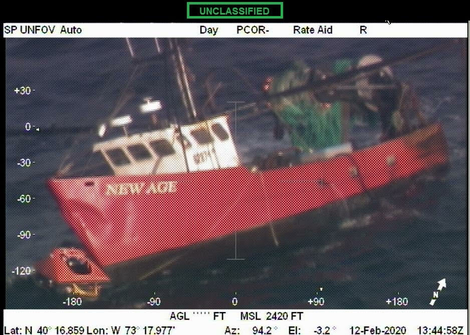 The listing New Age, as seen from a U.S. Coast Guard rescue helicopter. COURTESY U.S. COAST GUARD